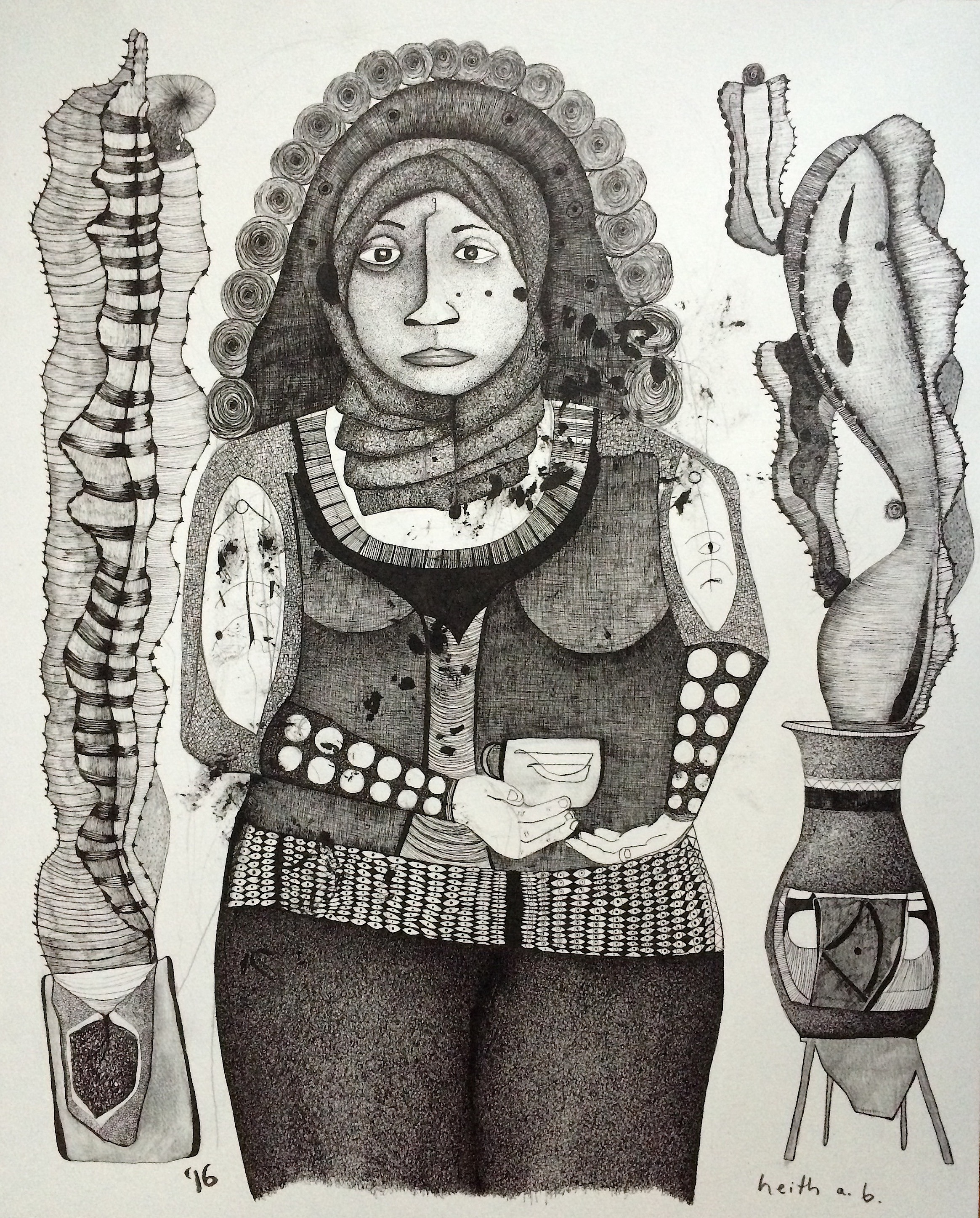 Woman Drinking Tea, 2016