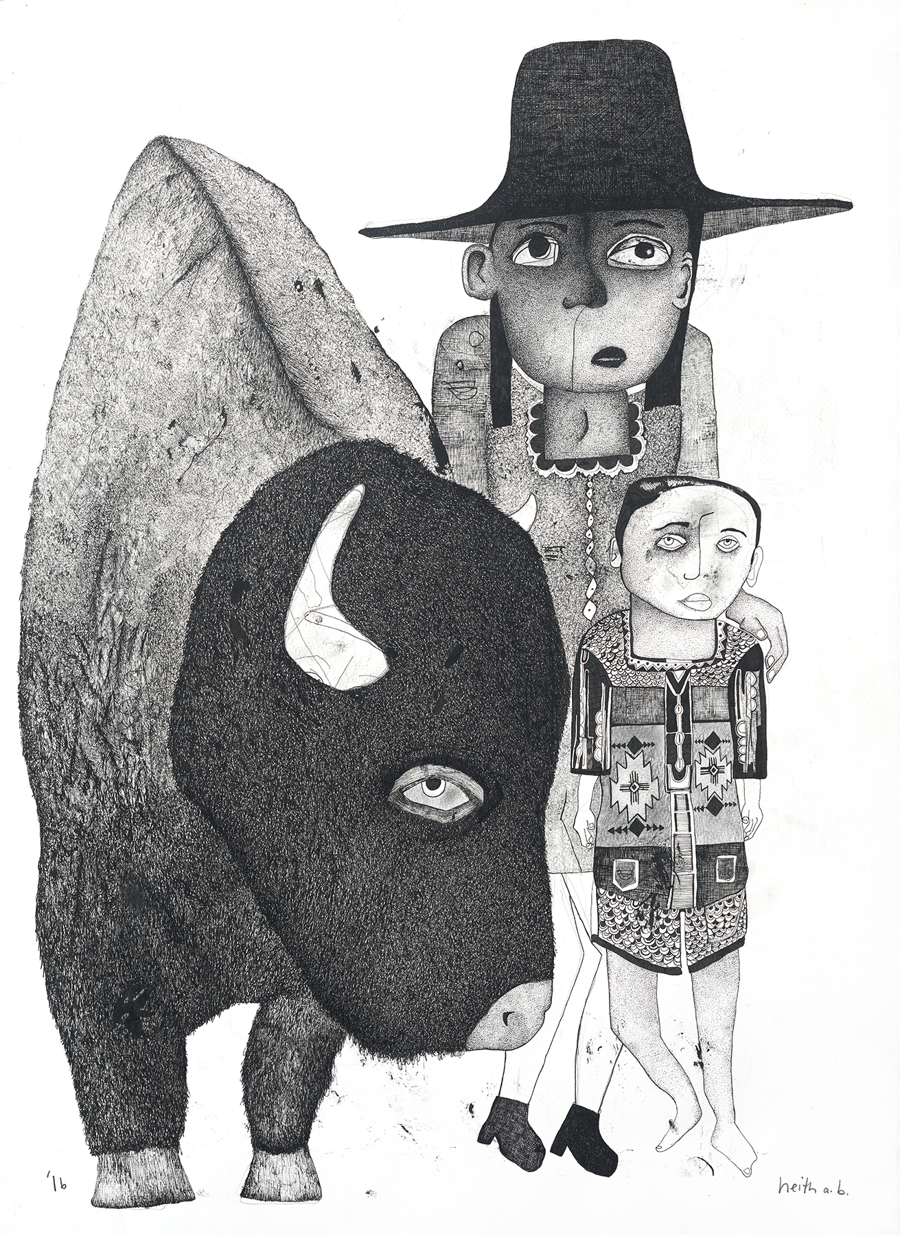 Boy with Buffalo, 2016