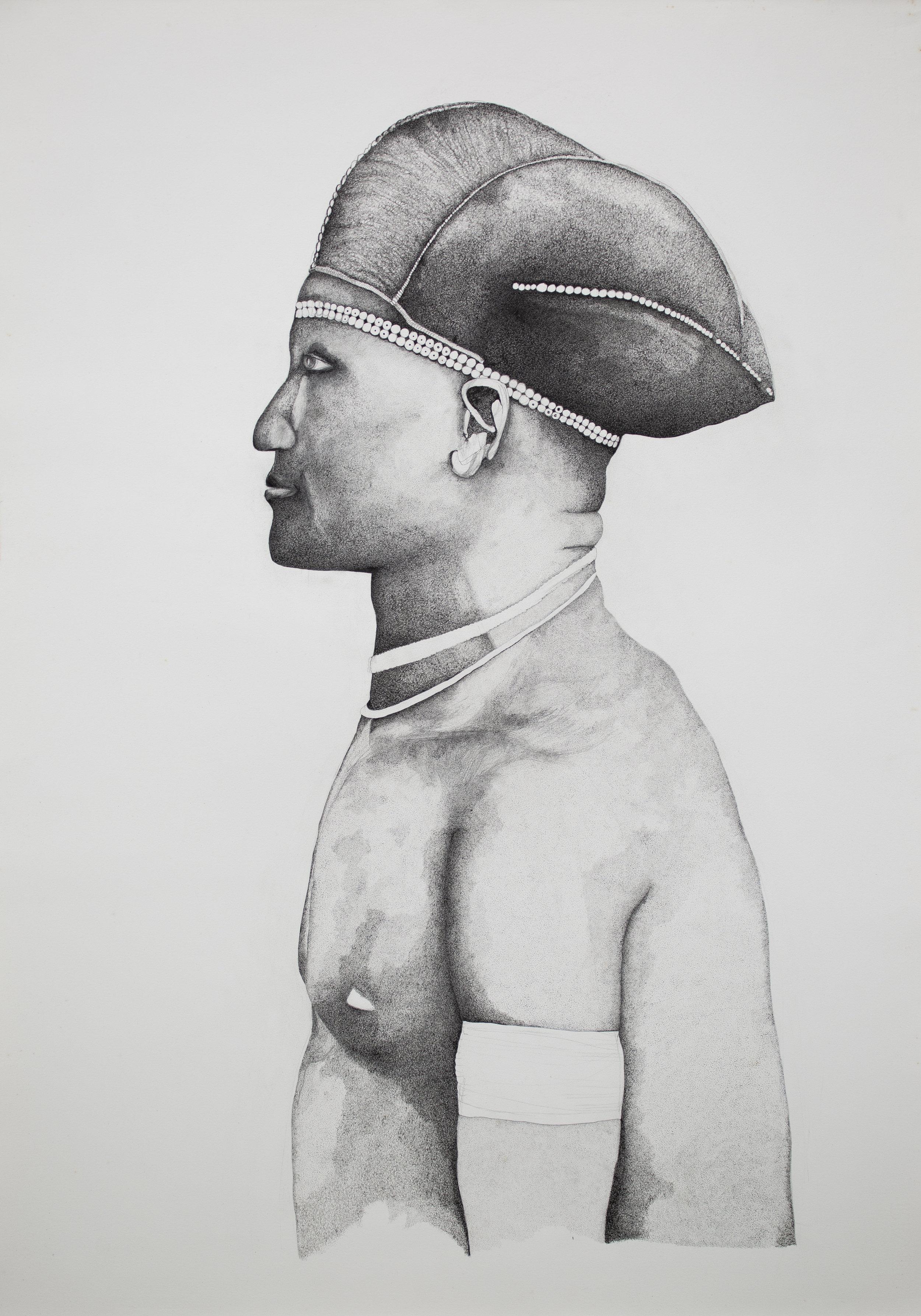 Portrait d'un Homme Gabonais, Fang du Haut-Ivindo,  2019