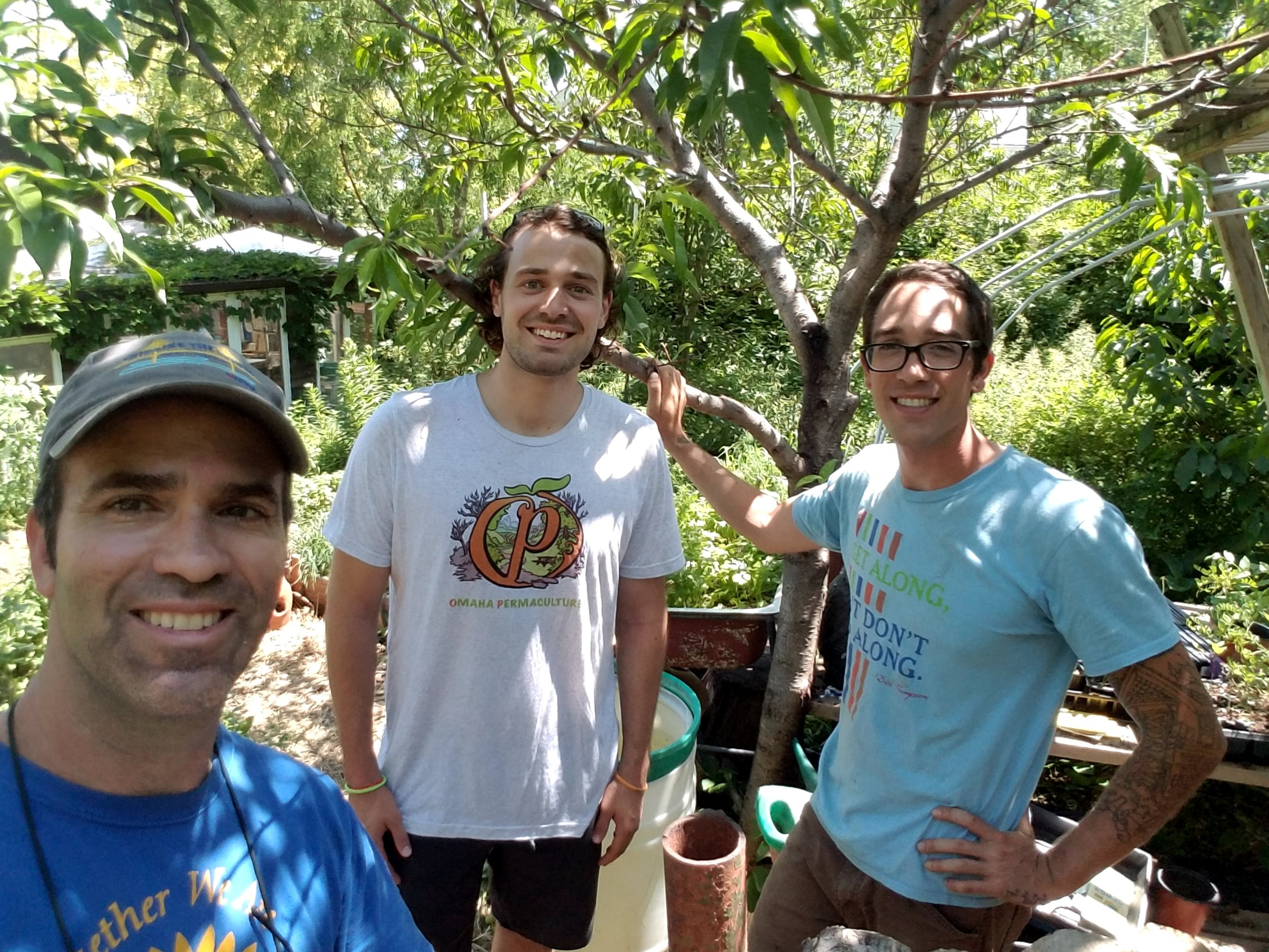 - Here is a picture of Gus, myself, and Dan from left to right. This was my first week on the job and I couldn't of been happier with how these two introduced me to permaculture and sustainable agriculture.