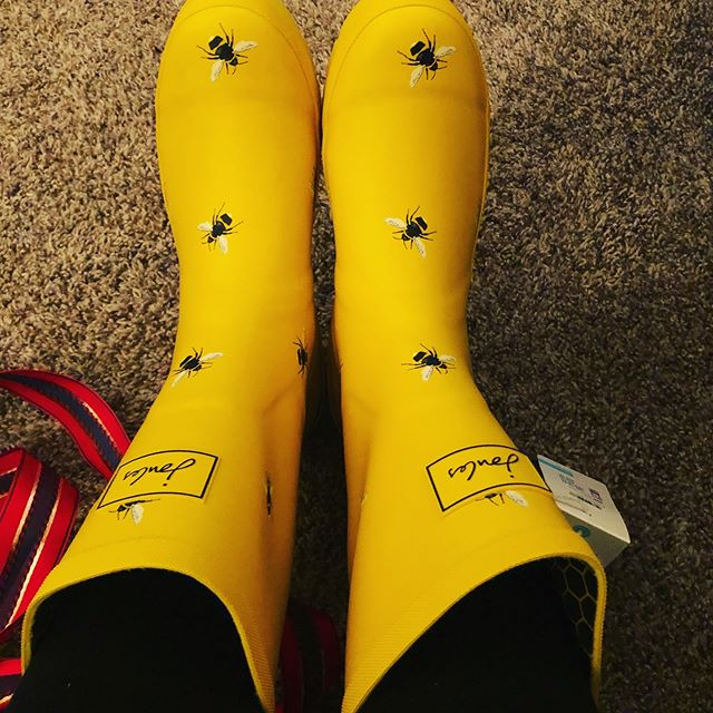 Got some new Sweet Shinalicious rainboots! 🐝 we're worker beeing away to bring you new stuff in the new year! Happy holidays everyone!
