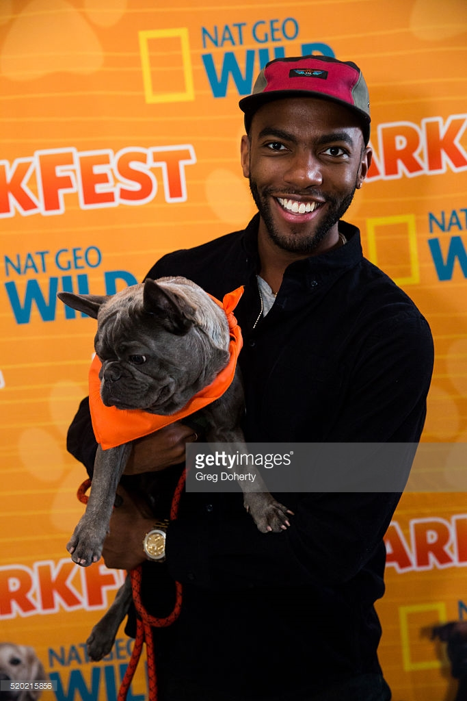 Carlis Shane and puppy Toby at Nat Geo Wild's Barkfest in West Hollywood, CA