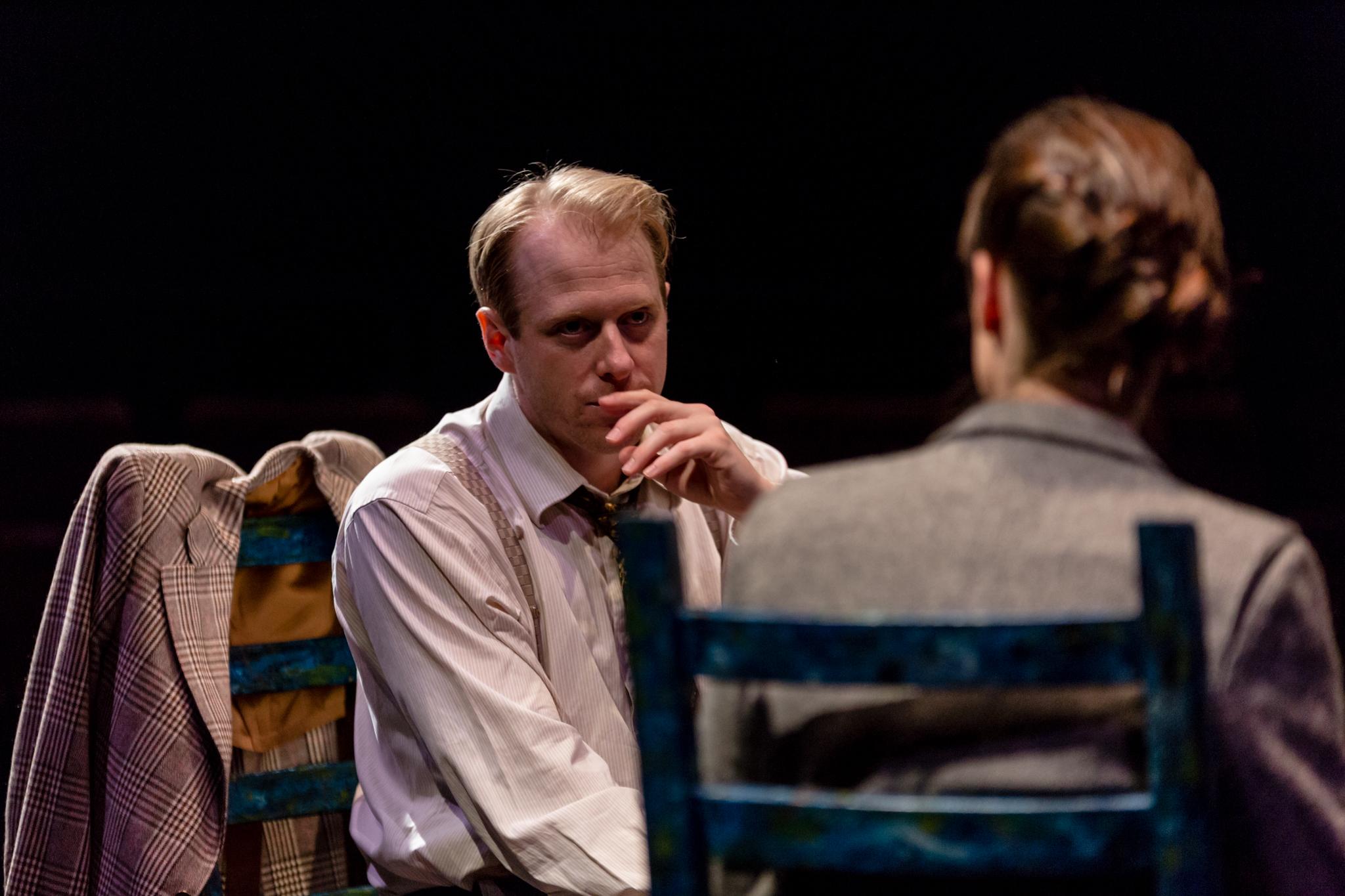 """Copenhagen"" by Michael Frayn Actors: Eric Regimbald Tara Pratt"