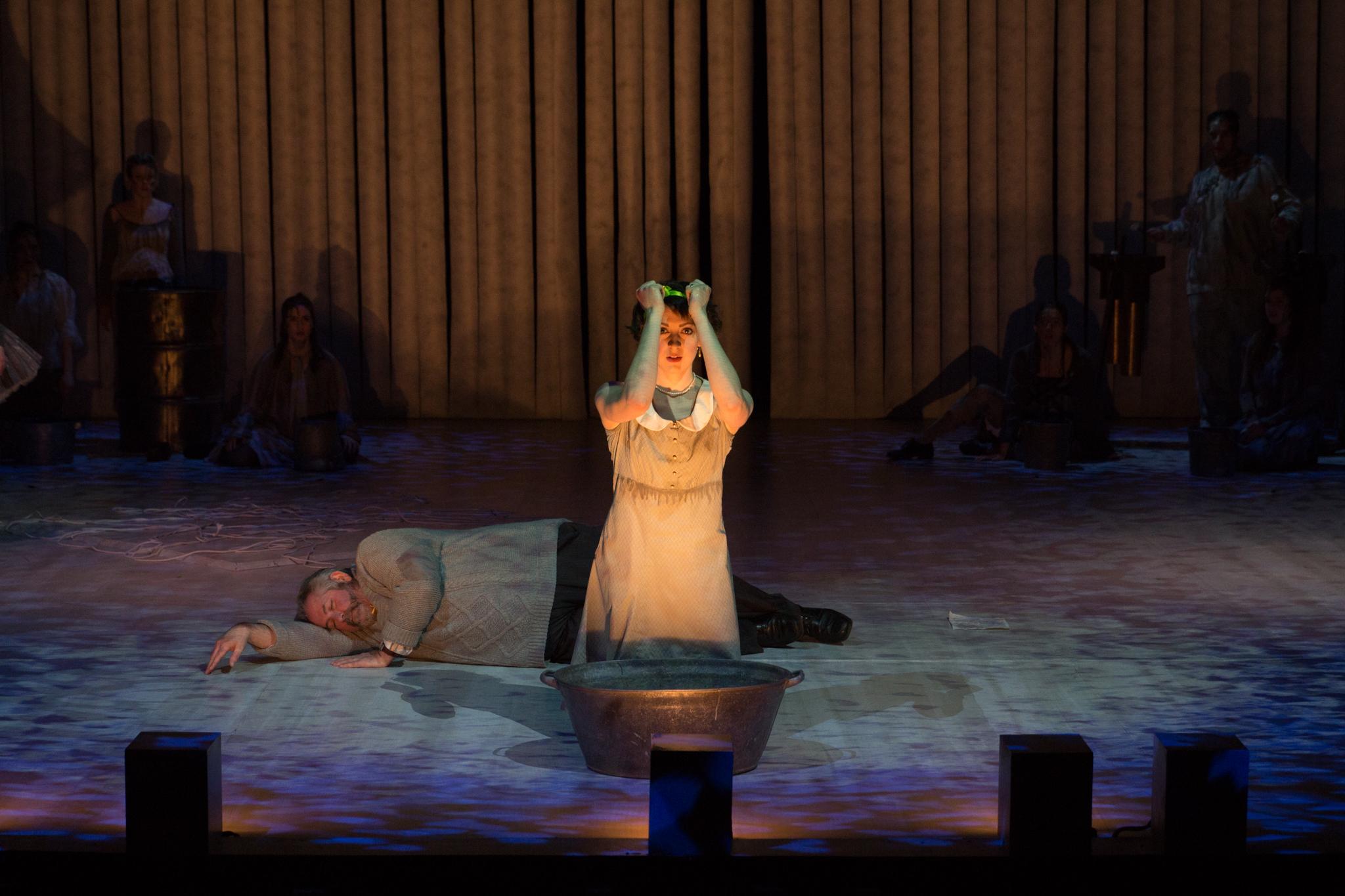 """Eurydice"" by Sarah Ruhl Actors Michael Fera Kelsey Ranshaw"