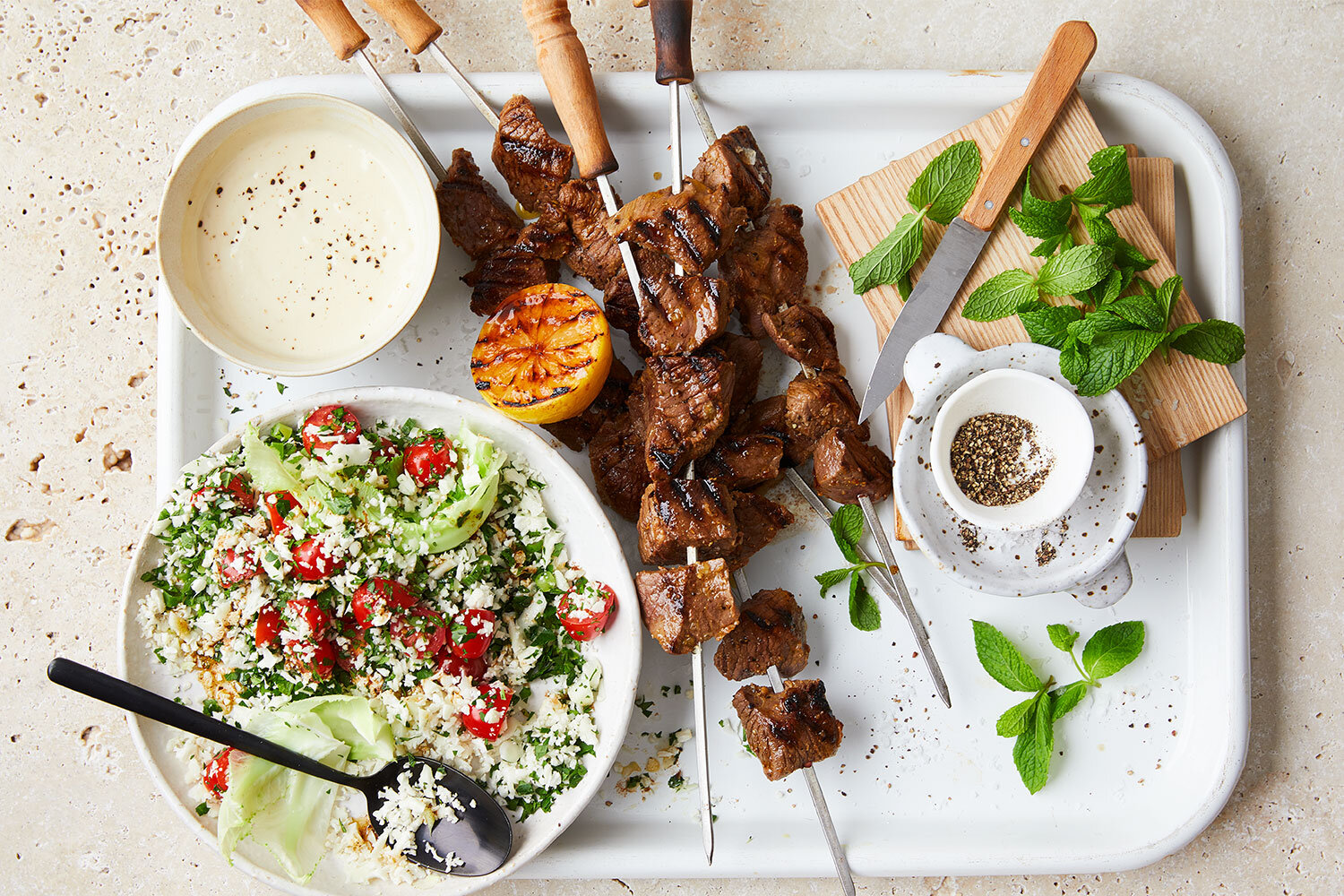 Hayden Quinn Keto Lamb Skewers Recipe