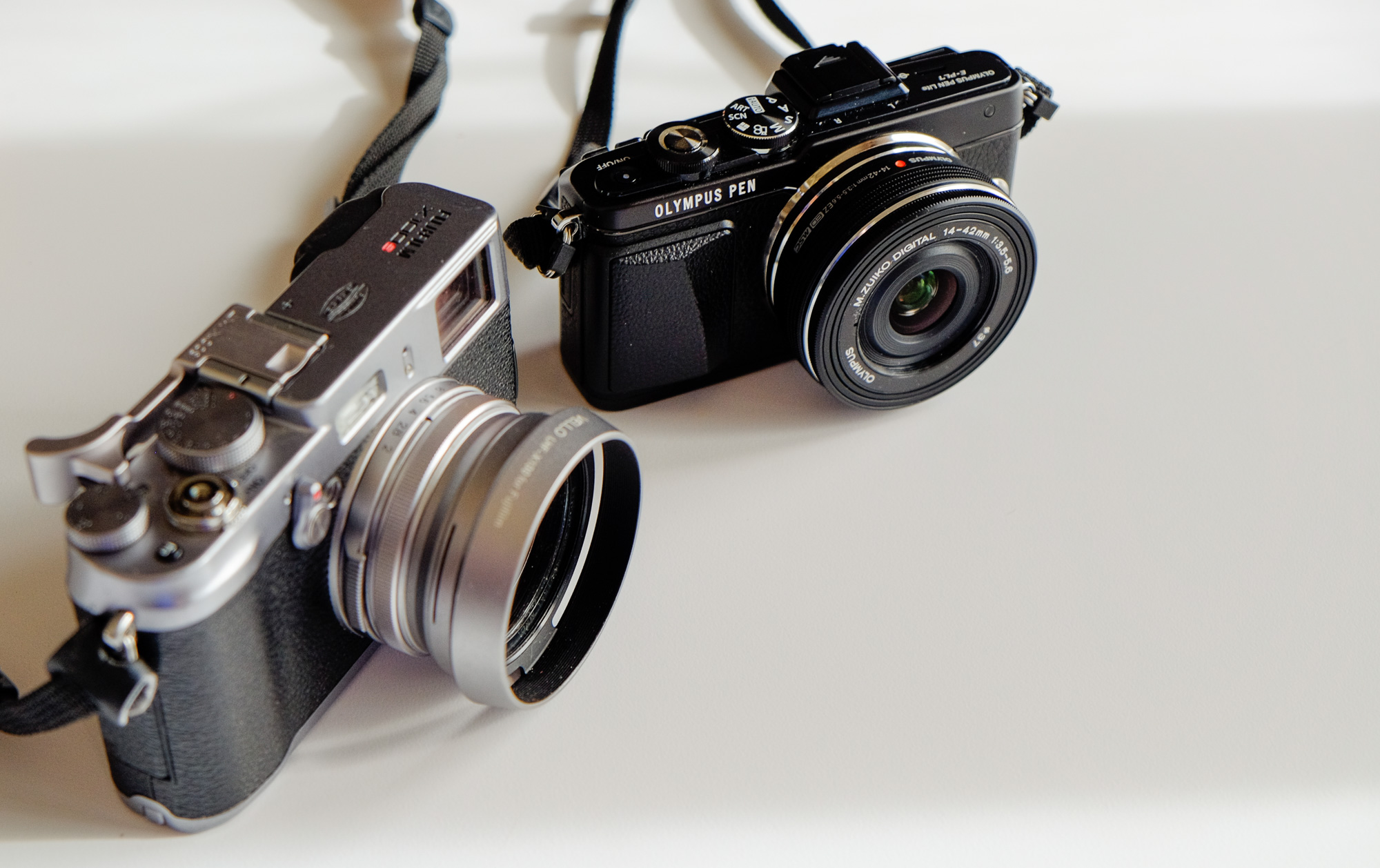 E-PL7 compared to my X100S