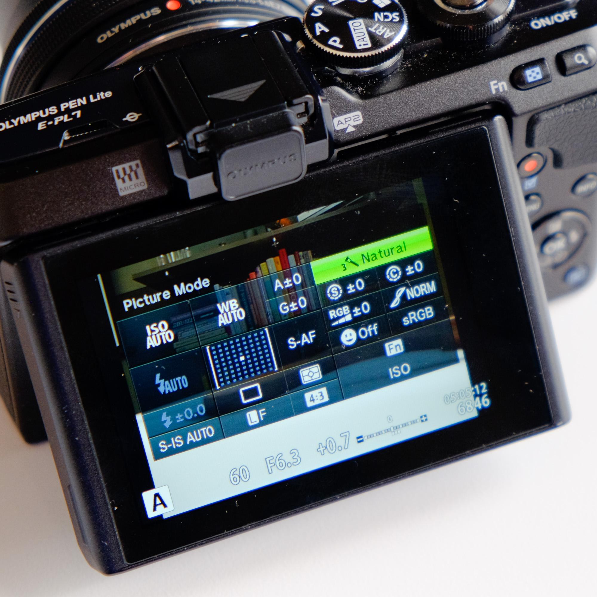 The Super Control Panel. Even nicer as the E-PL7 has a touchscreen