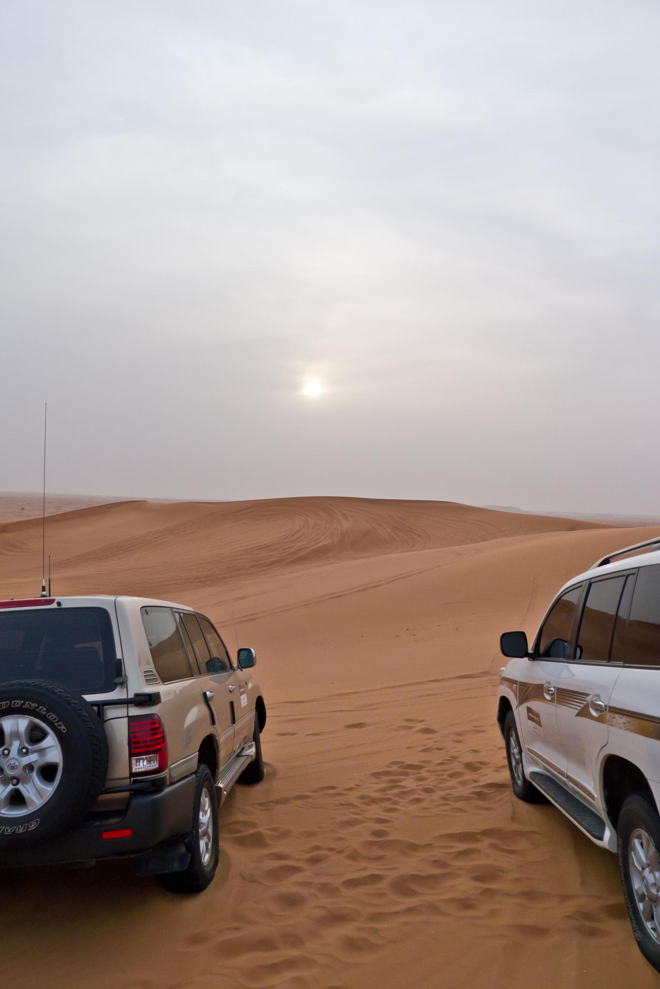 Land Cruisers on the dunes