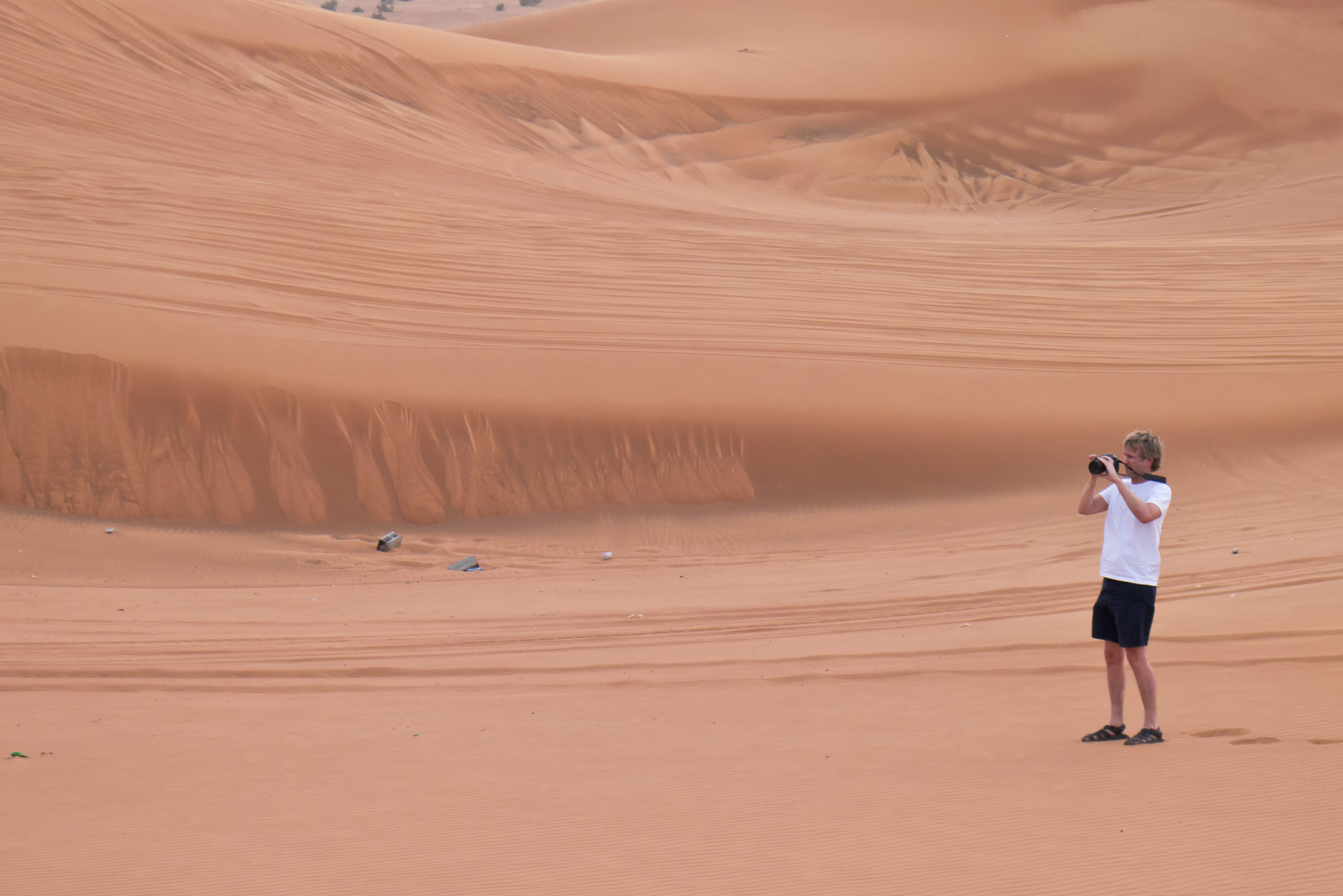 On the dunes, about an hour outside central Dubai