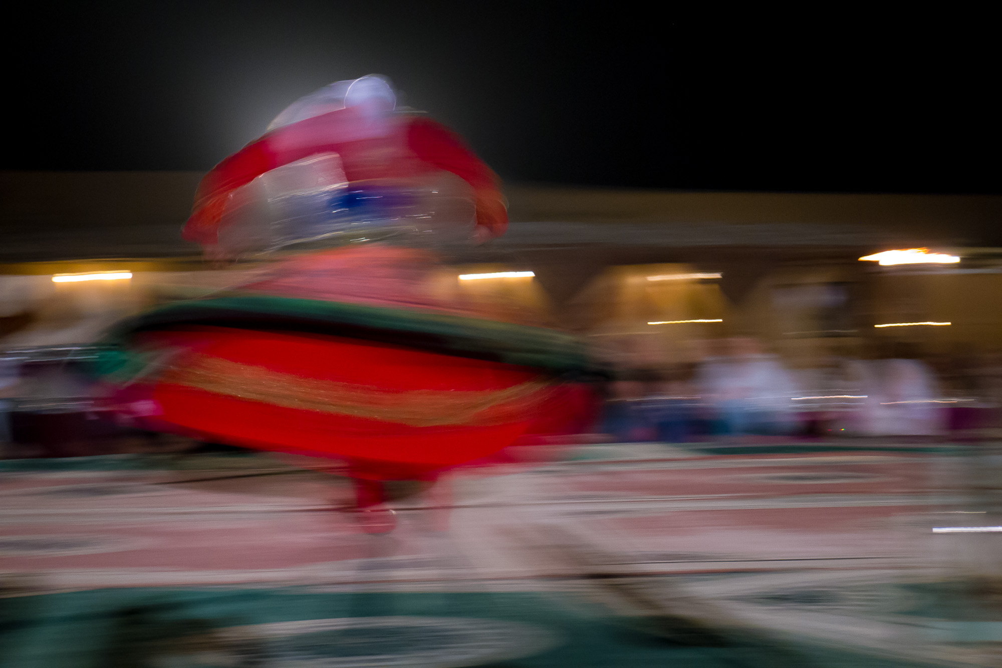 Whirling male dancer...