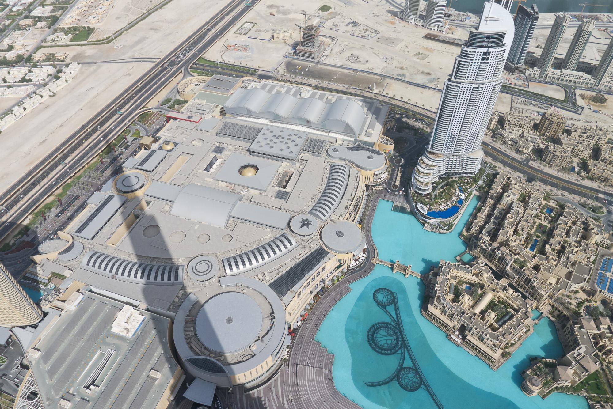 From Burj observation deck