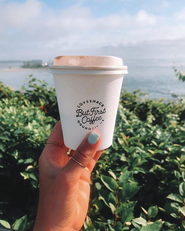 Always a good day for a latte by the water 🌊 #loveshackjuicery #coffee #latte