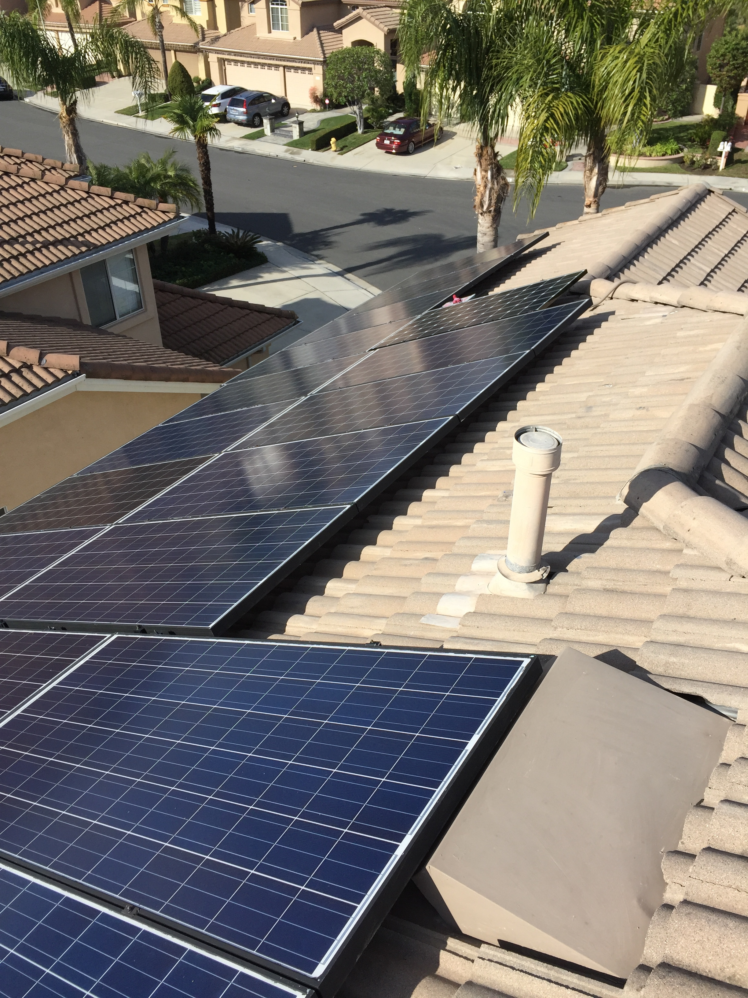 MISSION VIEJO, CA - 27 PV modules total to 7.9 kWDC in Mission Viejo, CA.  The system was commissioned in 2015.  The system is estimated to save the home owner over $120,000 in electricity bill over 25 years.