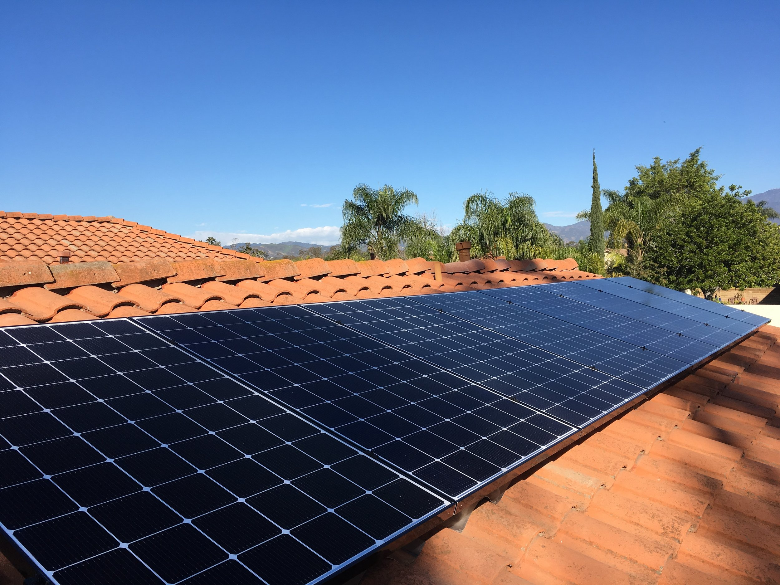 LAKE FOREST, CA - 8 high efficiency PV modules total to 2.6 kWDC in Lake Forest, CA.  The system was commissioned in 2017.  The system is estimated to save the home owner $16,000 in electricity bill over 25 years.