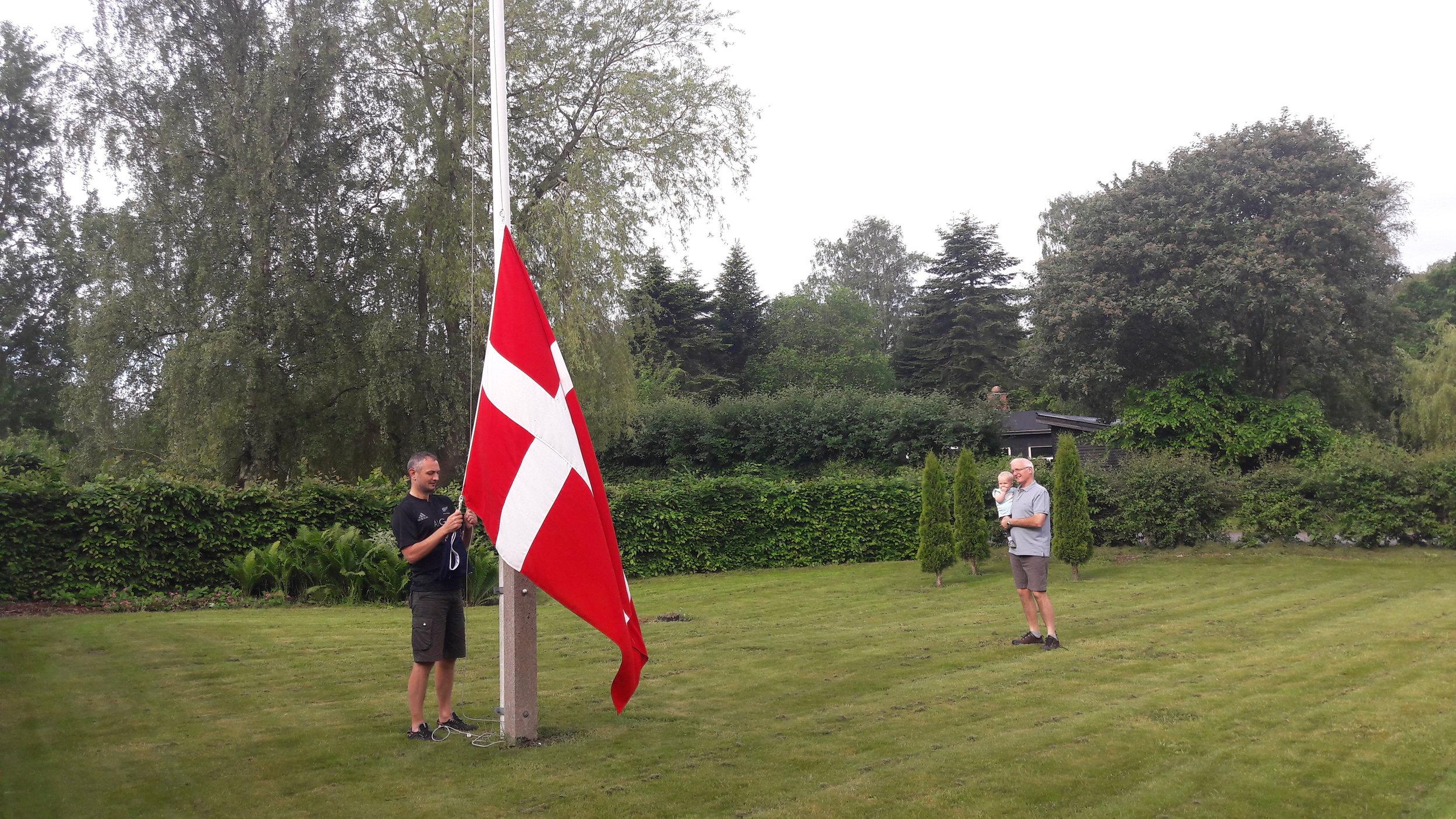 The Dane & his flag
