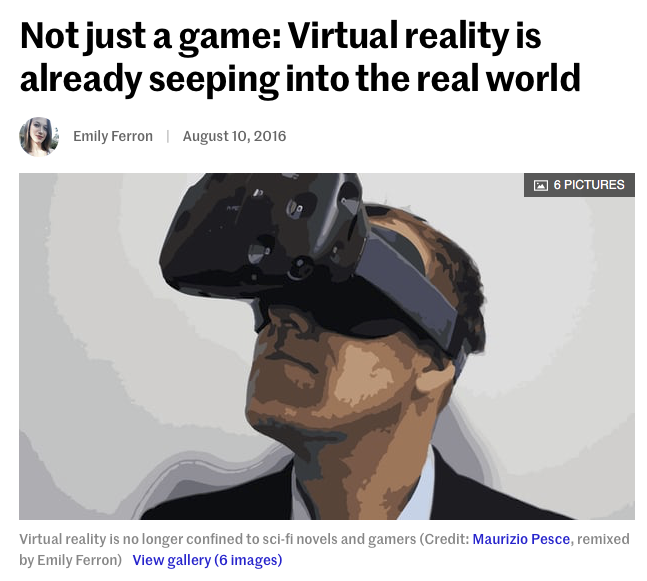 An article about VR is becoming a real life tool