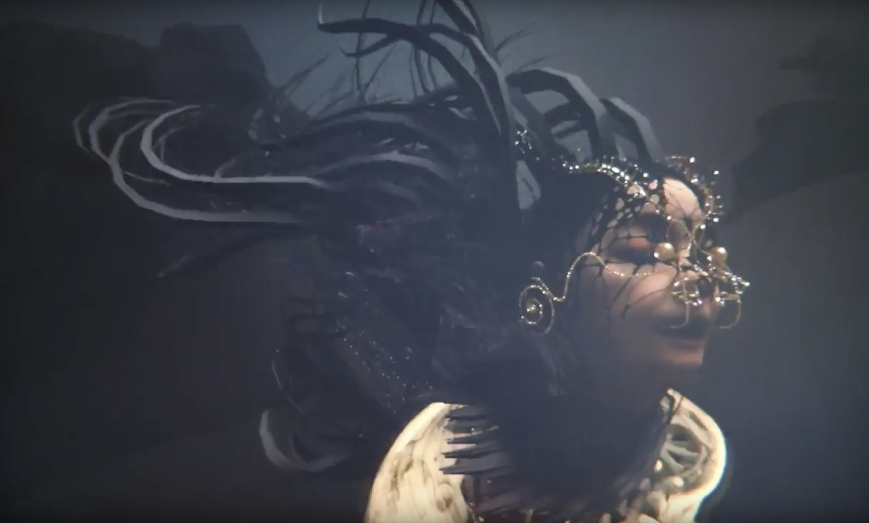 """Björk has shared a new teaser for the  virtual reality music video for Vulnicura's """"Notget."""" Directed by Warren Du Preez and Nick Thornton Jones, the video depicts a digital avatar of Björk performing the song in an ethereal environment."""
