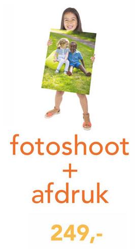 fotoshoot + canvas 60x40cm afdruk voor 249,-
