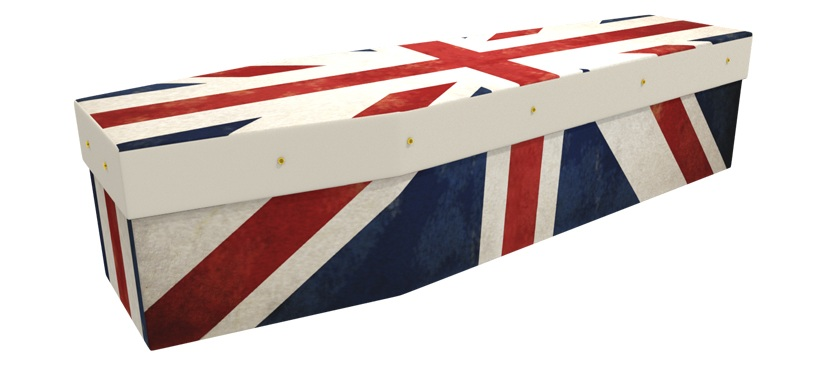 British flag coffin -  Available from Greenfield Coffins
