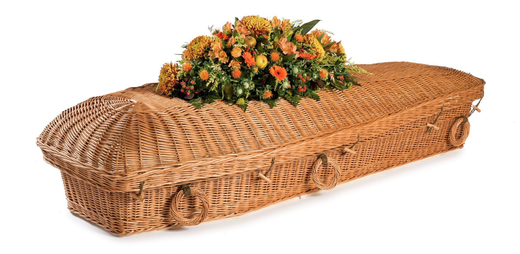 Handmade Willow Pod coffin - Available at  thinkwillow.com