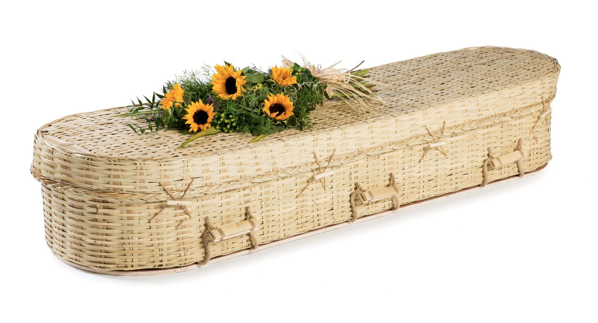 Bamboo Eco Coffin - Available from thinkwillow.com