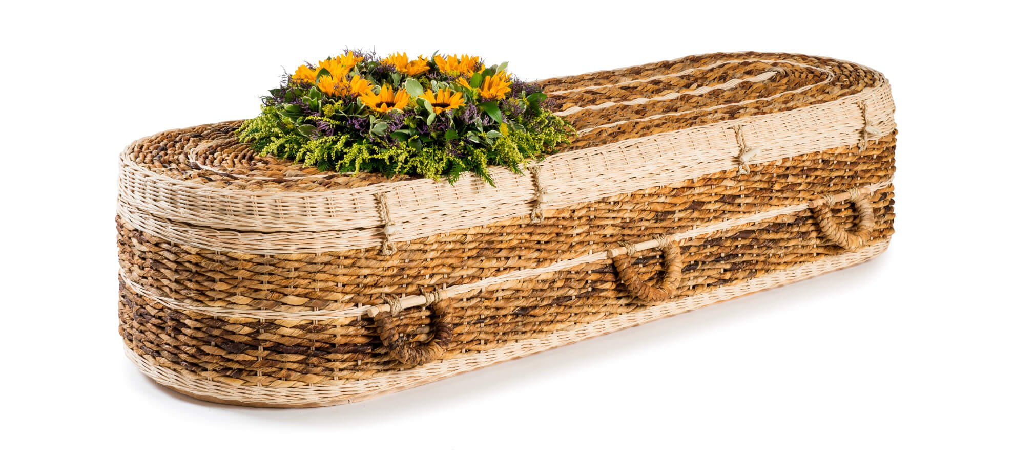 Example of a banana leaf coffin