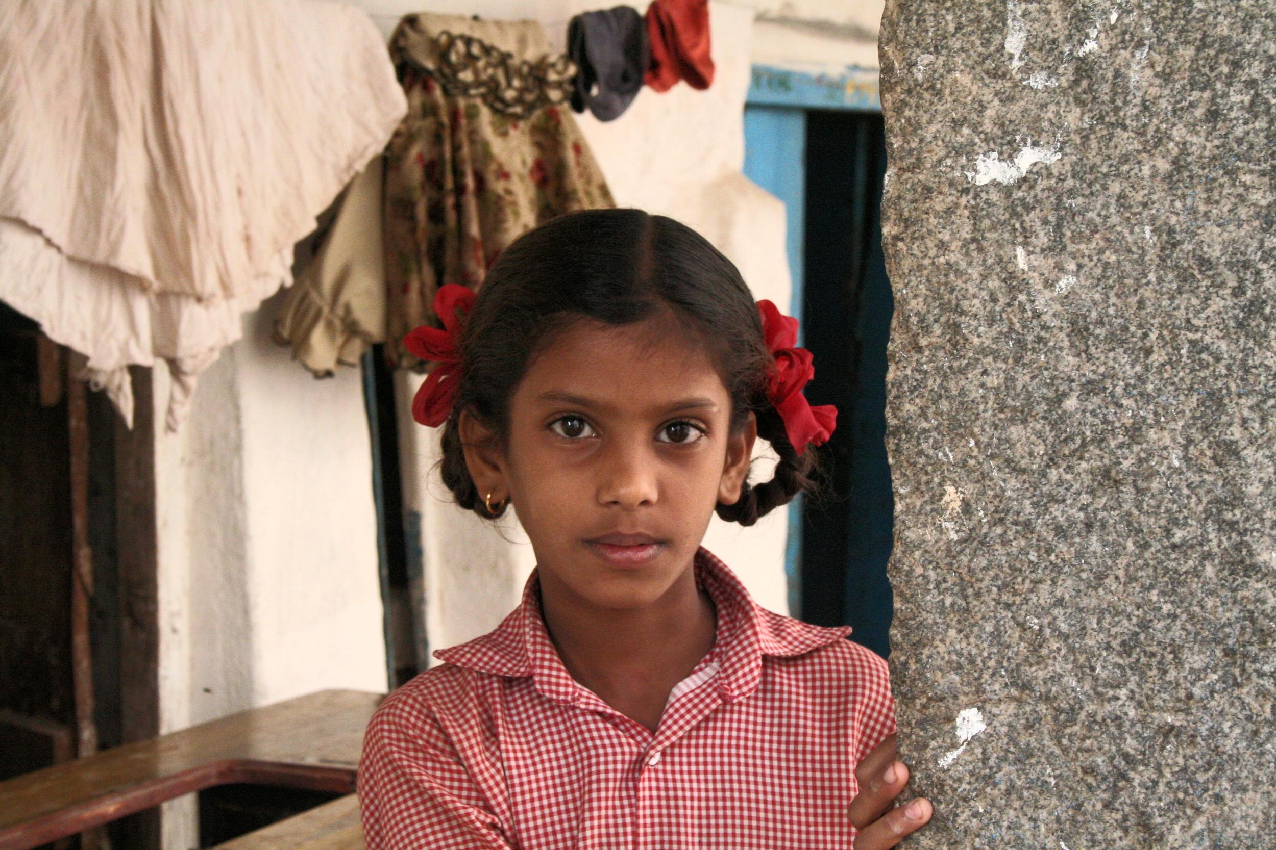 Schulmädchen. Foto: Irene Mazza, Hampi, Indien