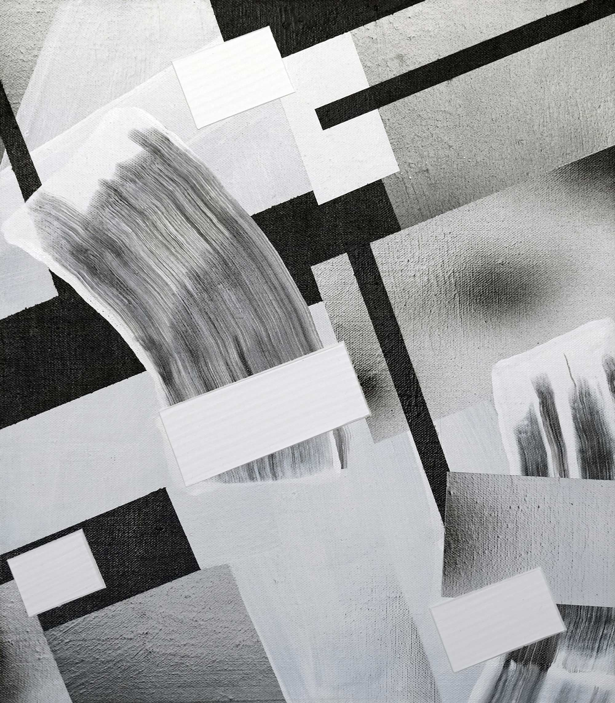 "43 Eridani, acrylic / airbrush / gesso on linen, 16"" x 14"""