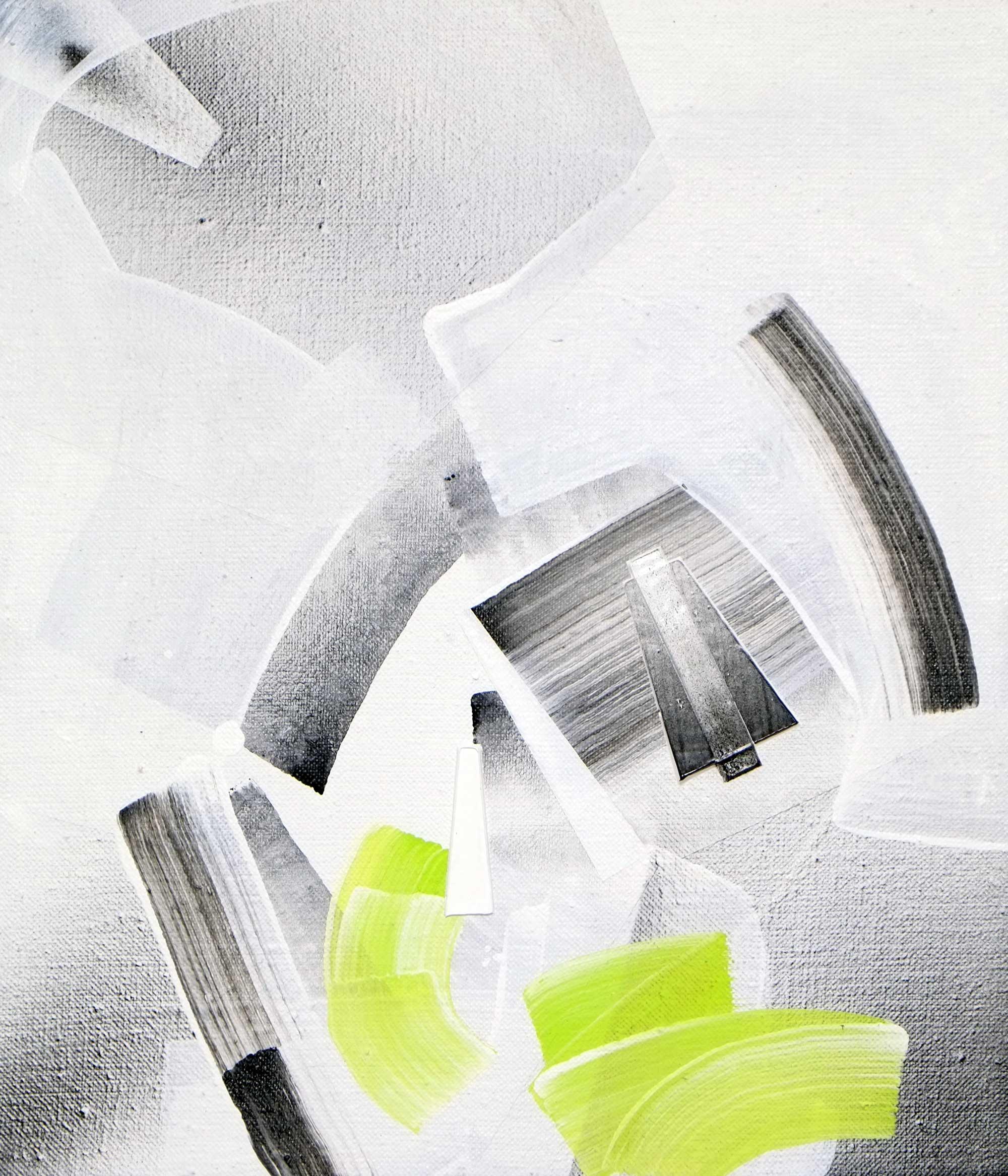 "Tau Herculis, acrylic / airbrush / gesso on linen, 14"" x 12"""