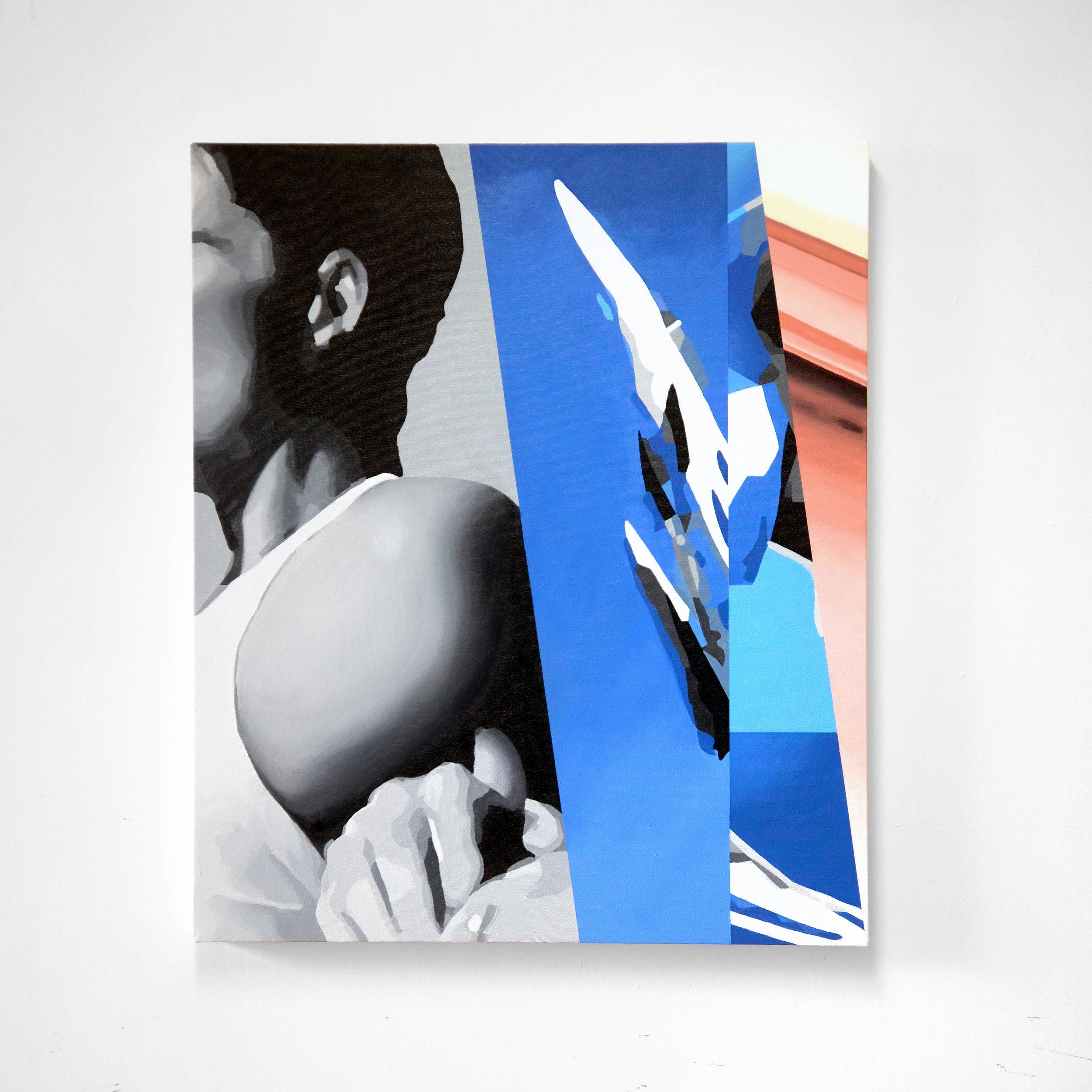 Escape, acrylic on canvas, 26x22in [66x56cm]