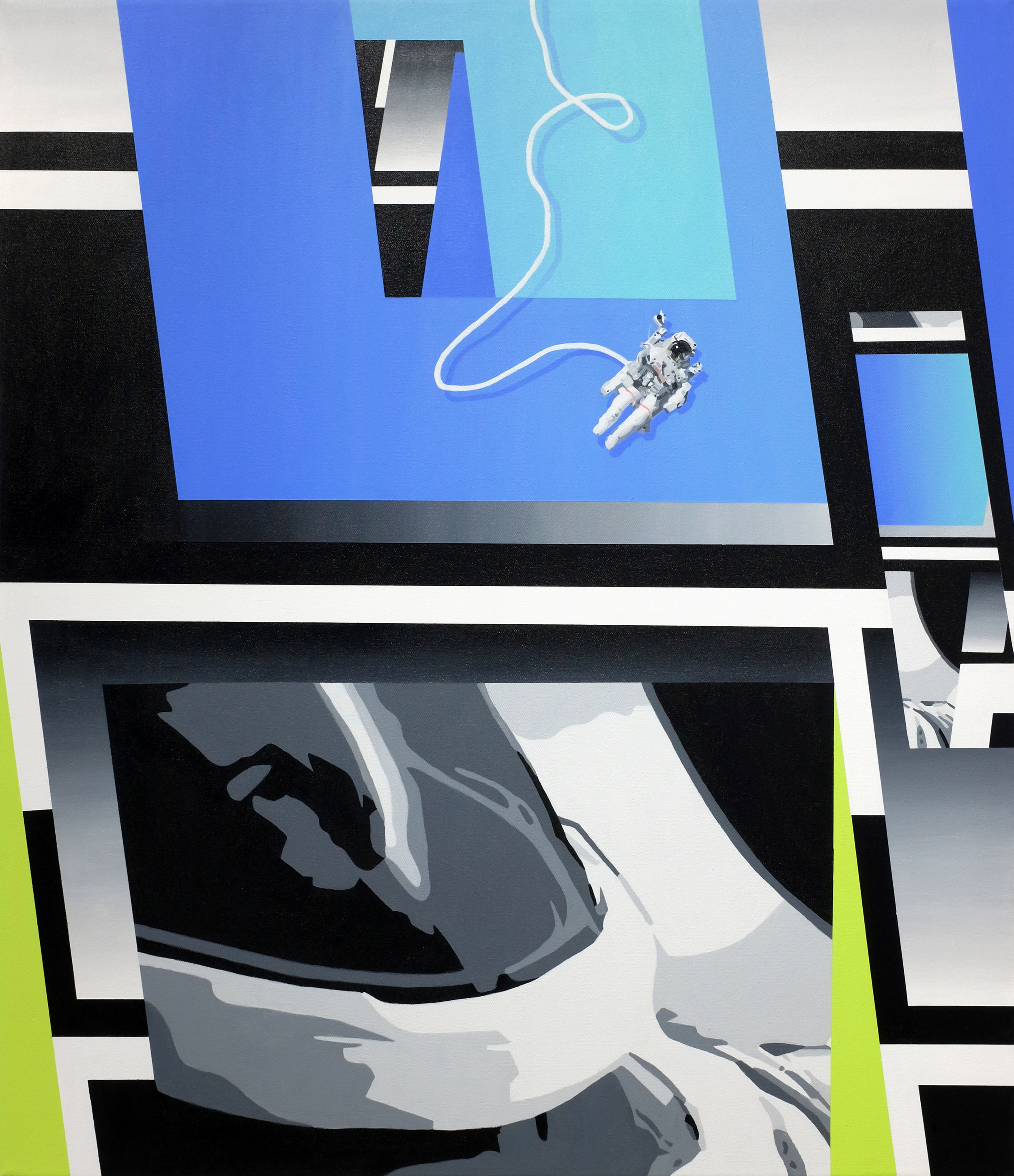 Orbital Class, acrylic on canvas, 42x36in [101.7x91.4cm]