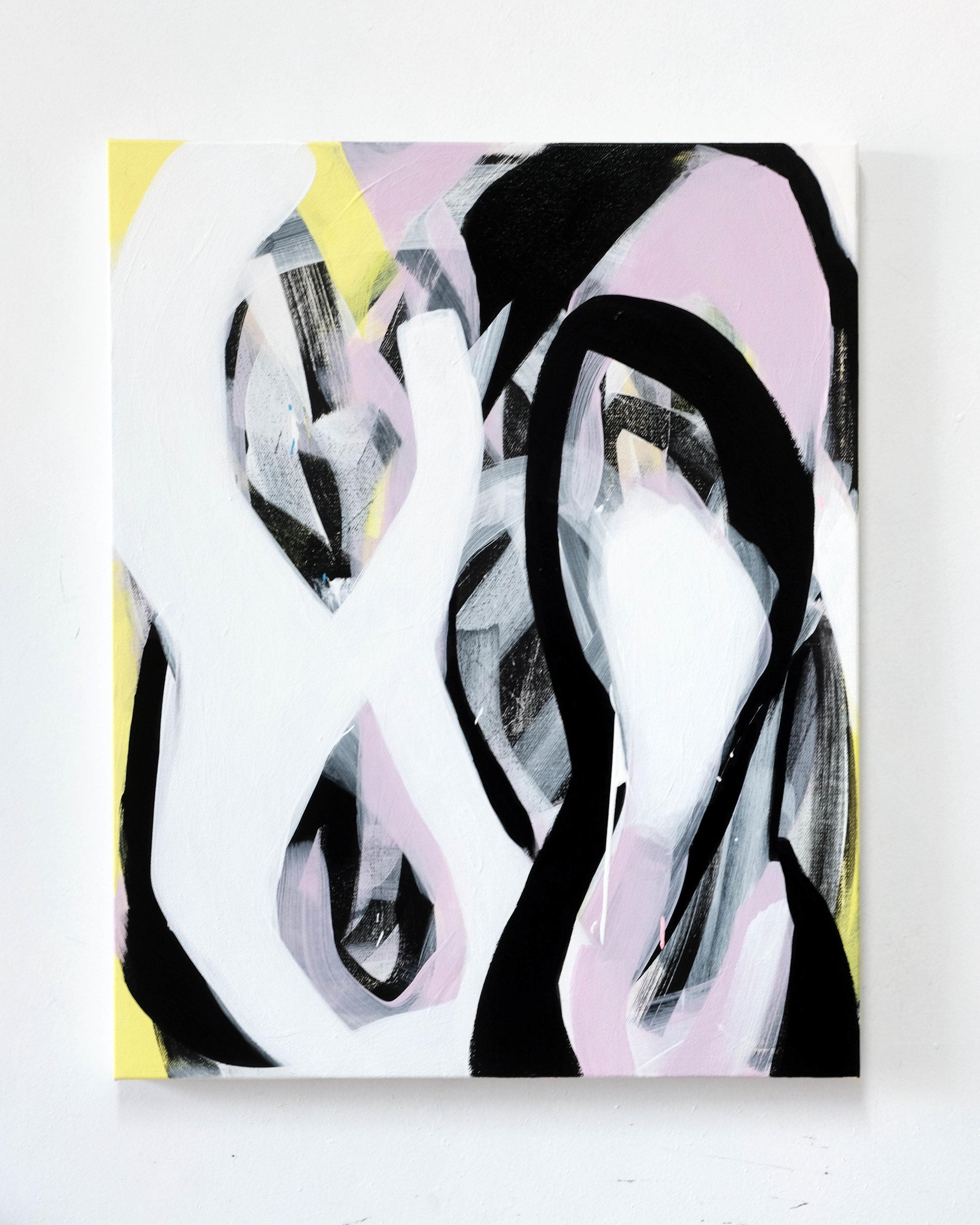 Navel Gazing, acrylic on canvas, 20x16in