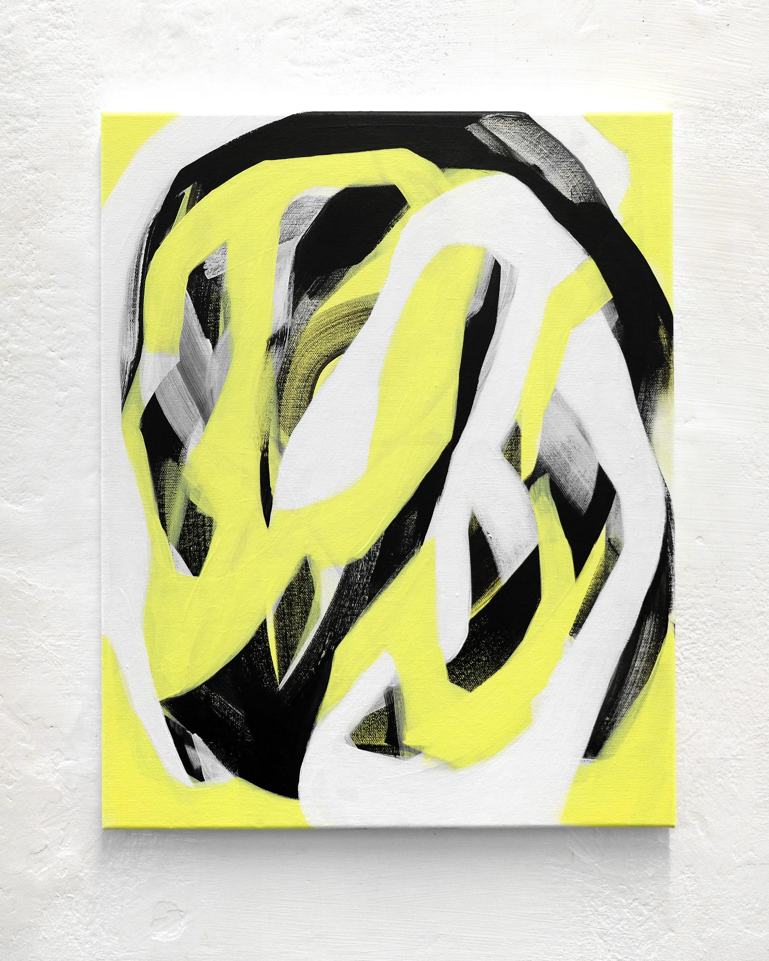 Moon Bliss, acrylic on canvas, 50x40cm