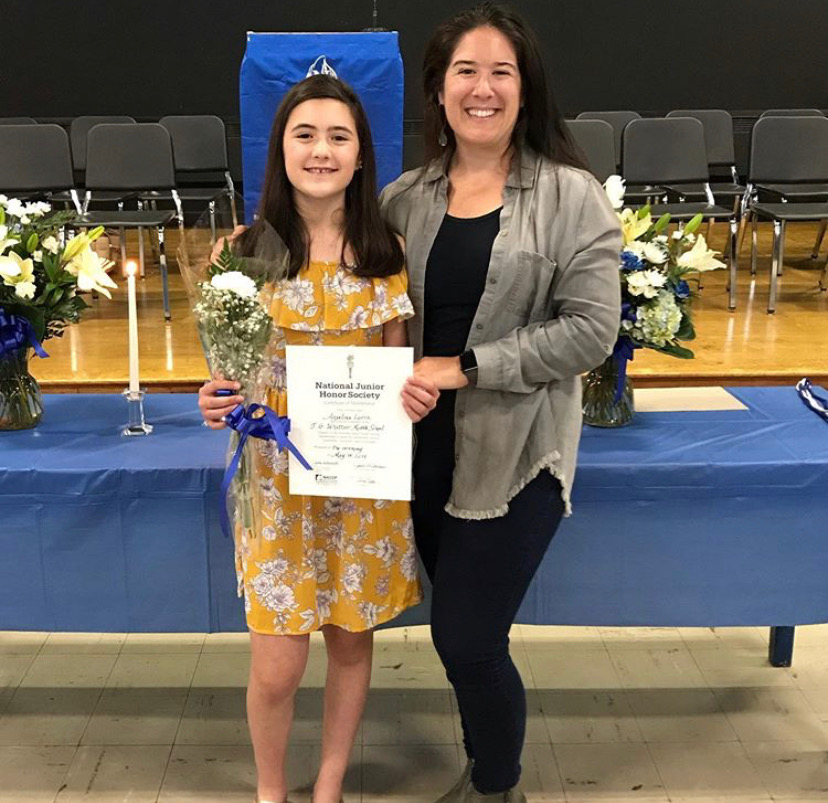 Angie with her mom Lisa at her National Junior Honor Society Induction!