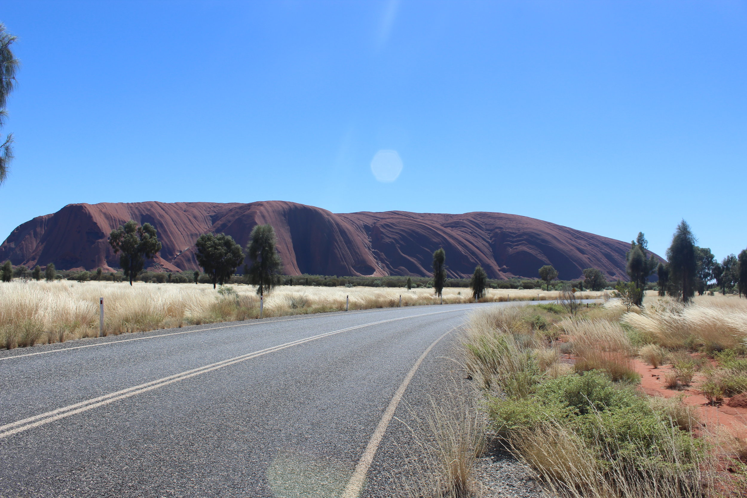 On the road to Uluru, after being Fool-uru by Mount Conner...