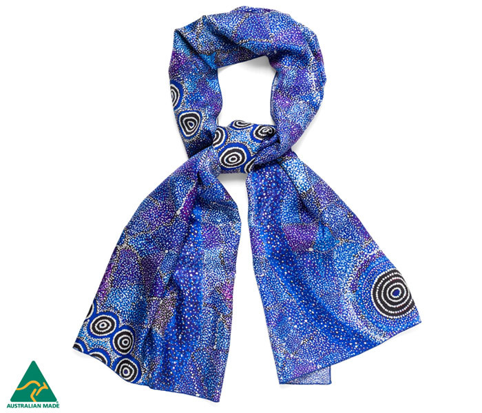 Alma Nungarrayi Granites silk scarf with beautiful gift box £60