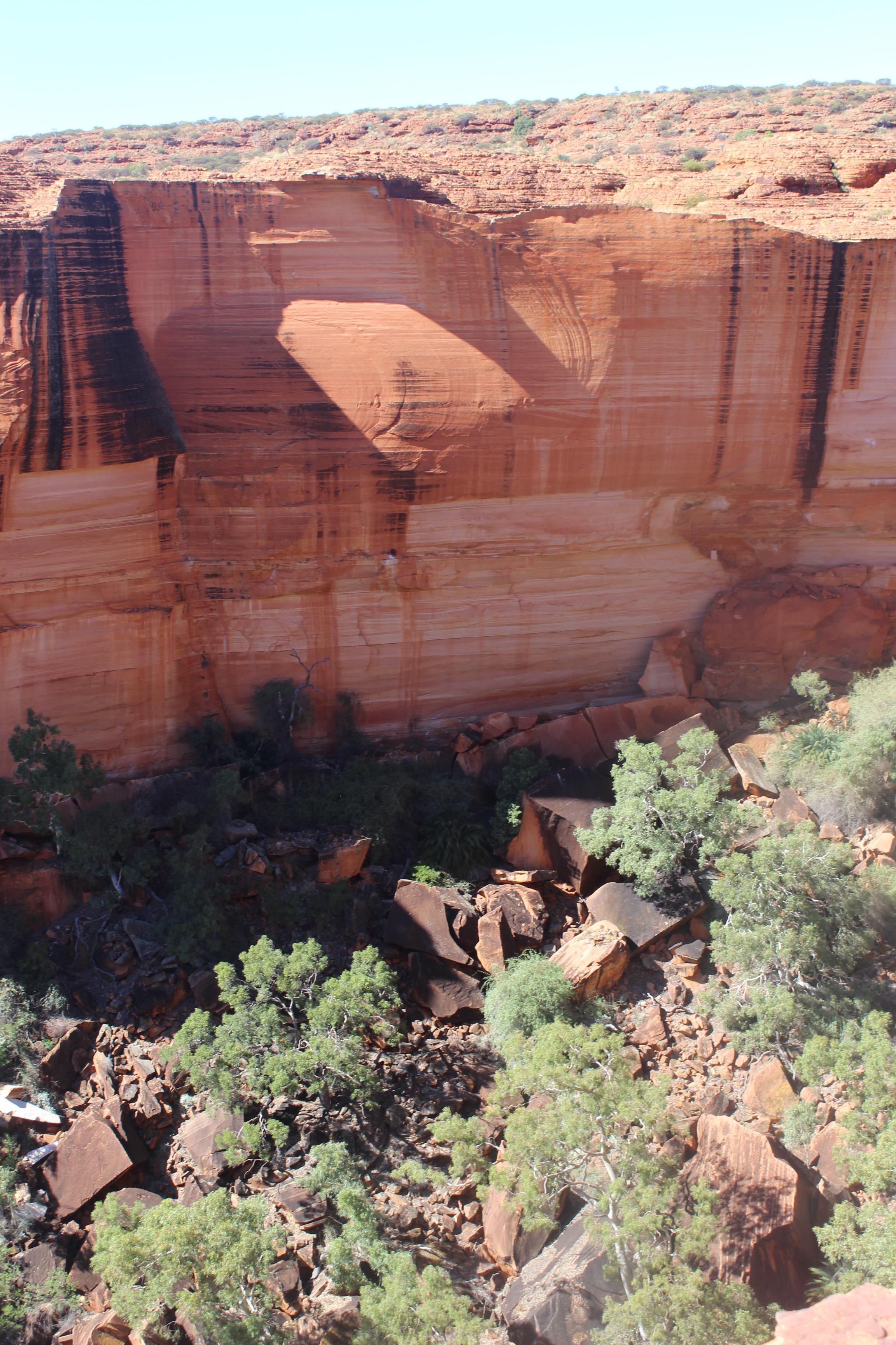 Kings Canyon walls above the Garden of Eden.