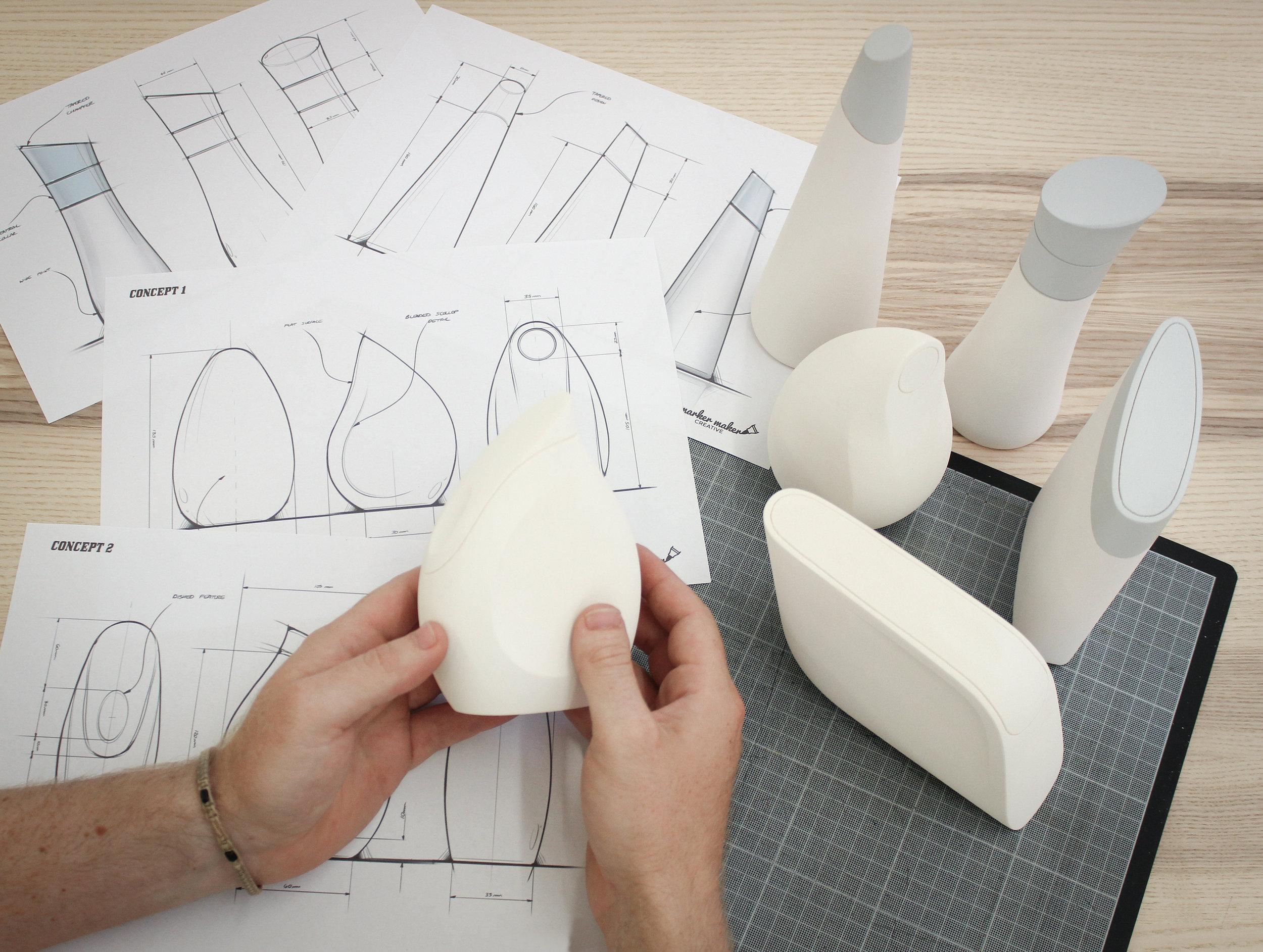Industrial Design Agency Bristol - Handmade Foam Models