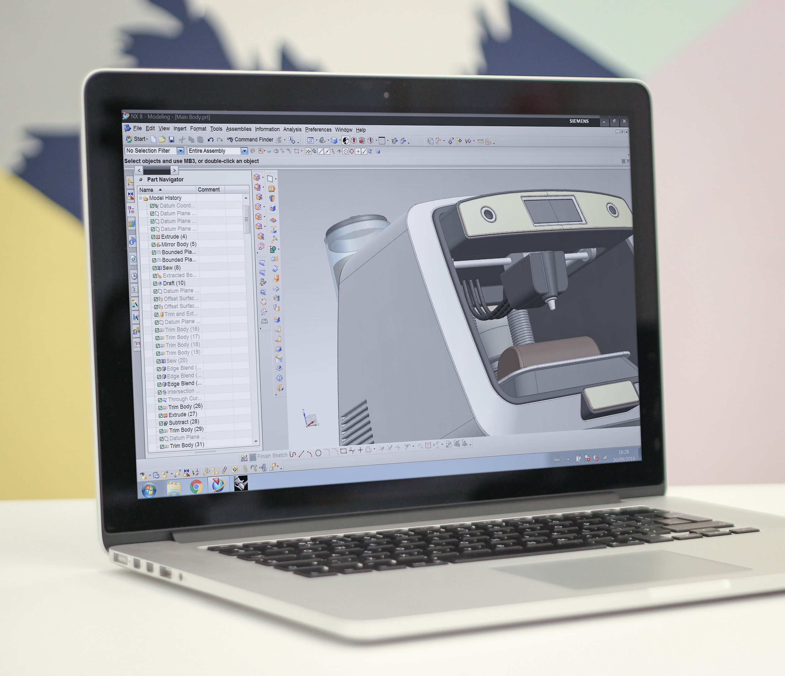 An advantage of creating 3D data during concept development,is that we can translate your virtual model into a real life prototype, using rapid prototyping techniques. We work with external partners to produce SLA printed prototypes and CNC machined models.