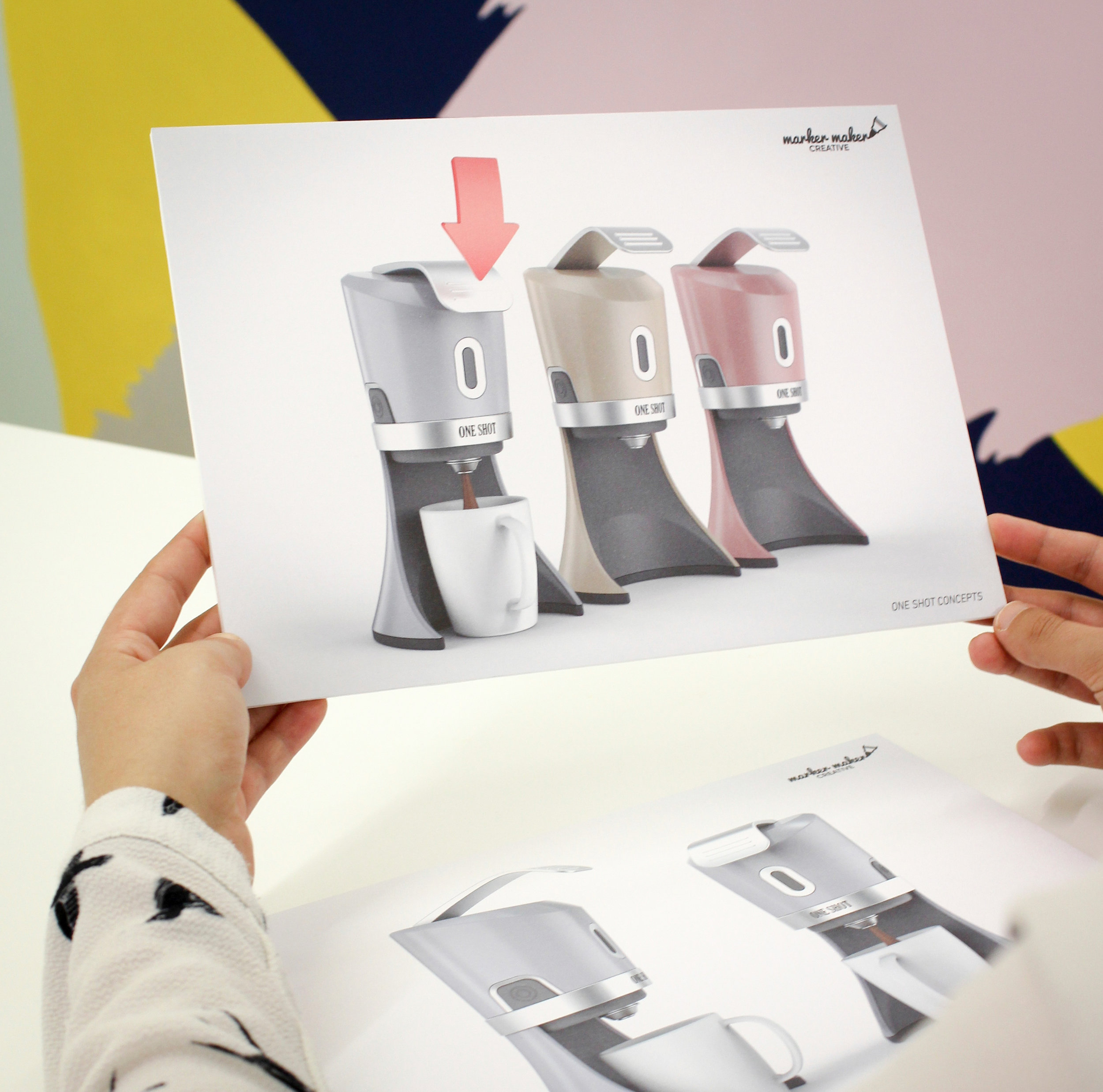 Production of high impact photorealistic computer rendering to allow clients to view and evaluate their product and packaging ideas