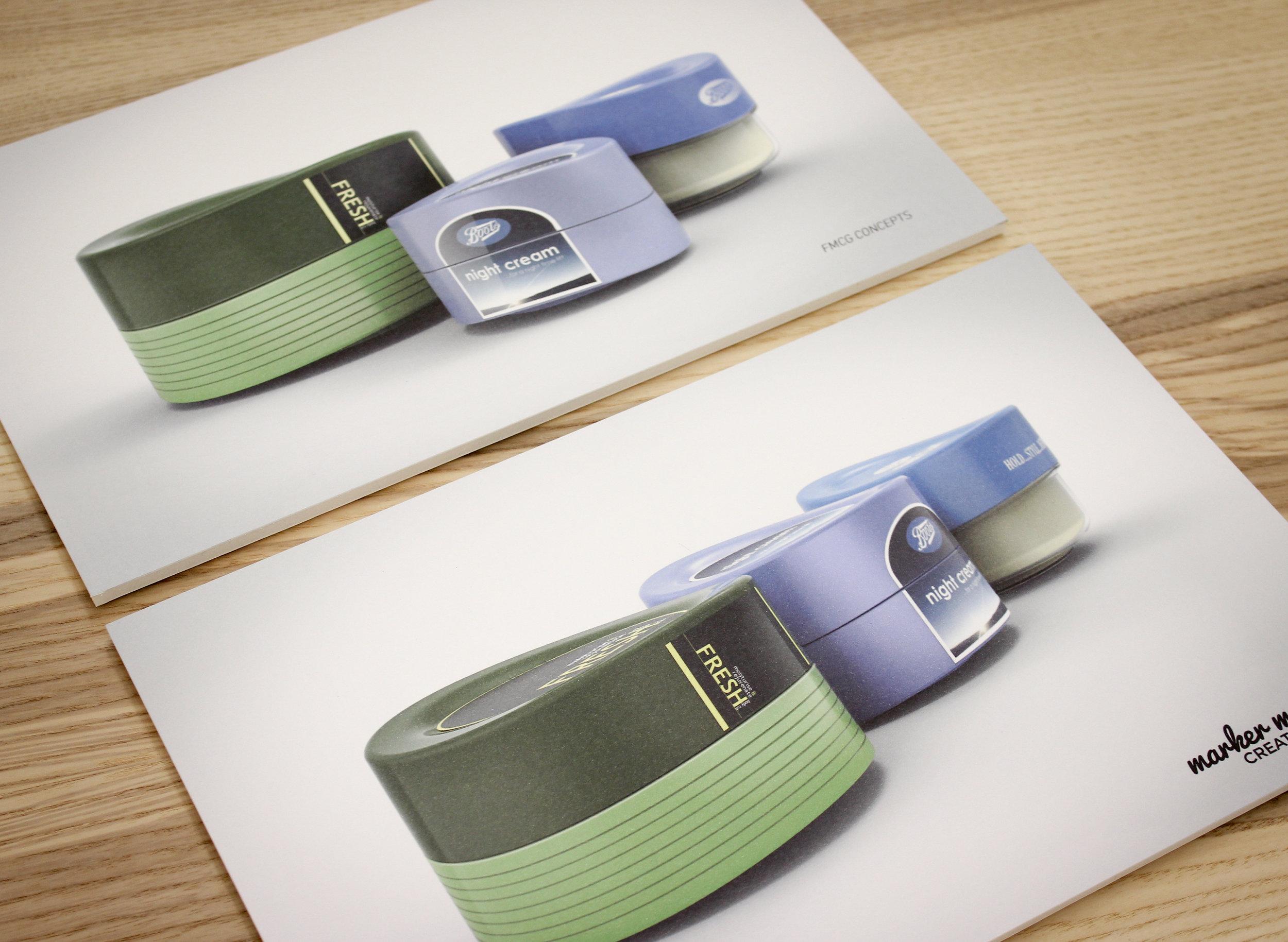 CGI rendering example of FMCG packaging