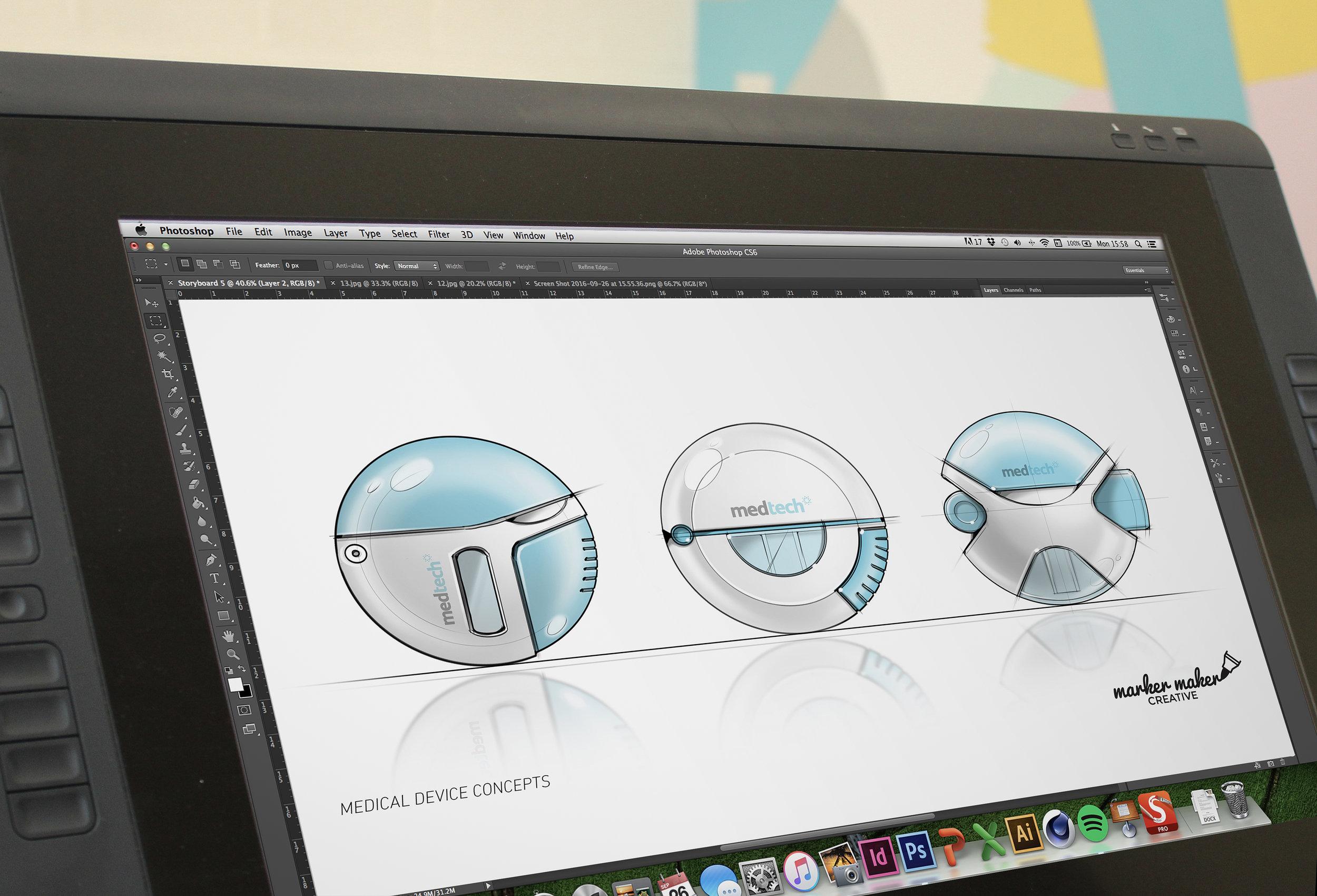 Wacom Tablet - digital concept visual