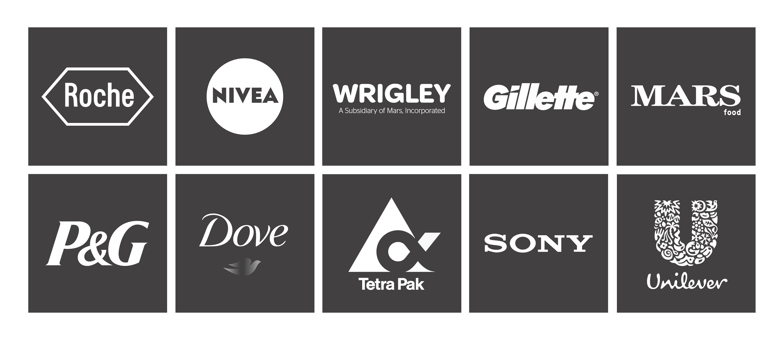 Here are just a few of our clients and creative partners who we work with or on behalf of.