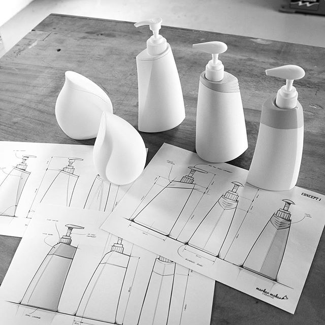 Models are coming together nicely.  We create 3D forms from simple 2D elevations. Final comparison with the artwork before spraying.  #productdesign #industrialdesign #creative #designerlife #design #prototyping #workshop #3d #designprocess #modelmaking