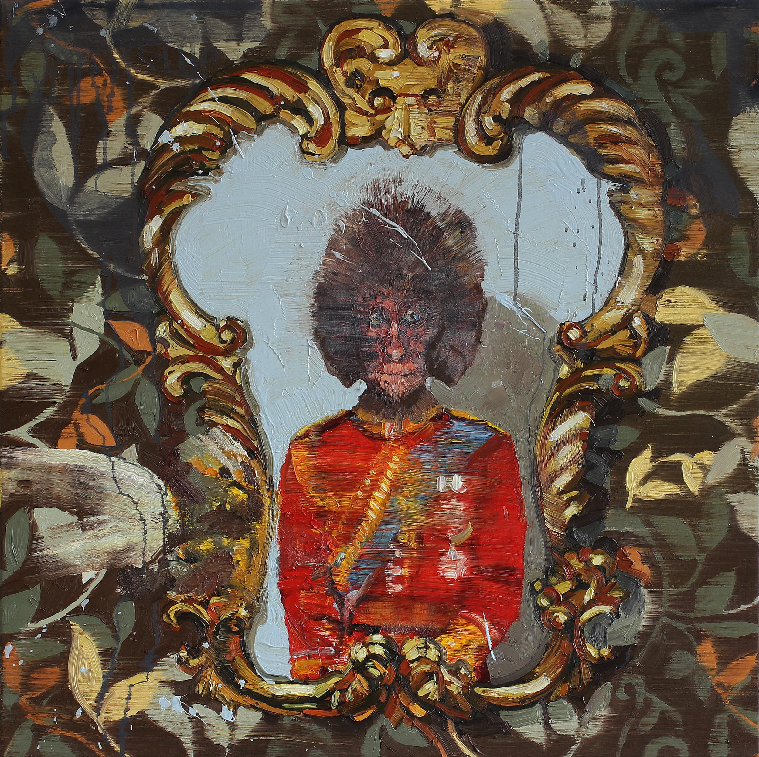 Den Belgiske kongens tilbakekomst | 85x85 cm | Olje på lerret | Privat eie