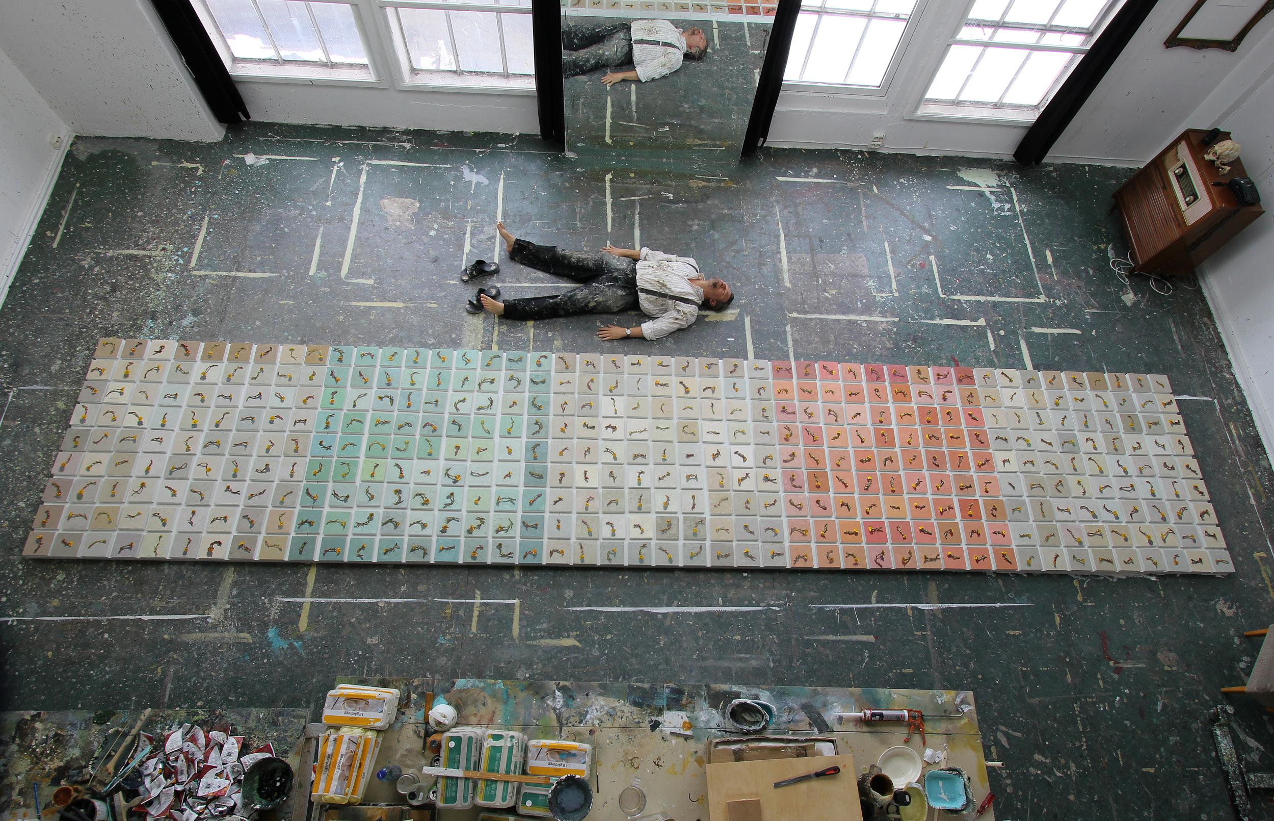 Utsmykking til Alex Sushi 170x800 cm, ferdig.
