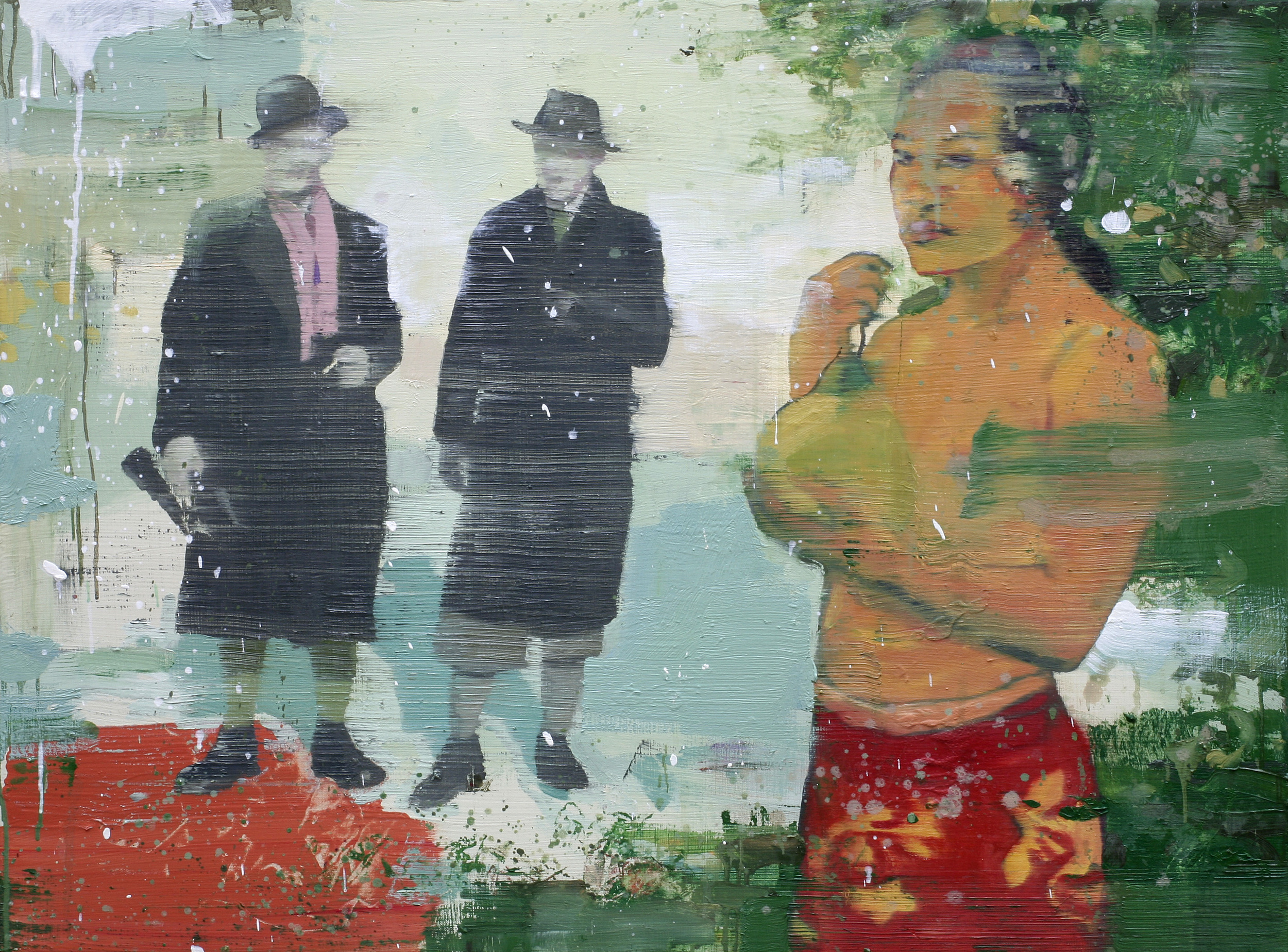 De sluttet aldri å snakke om Gauguin | 115x85 cm | Eggoljetempera på lerret | Privat eie