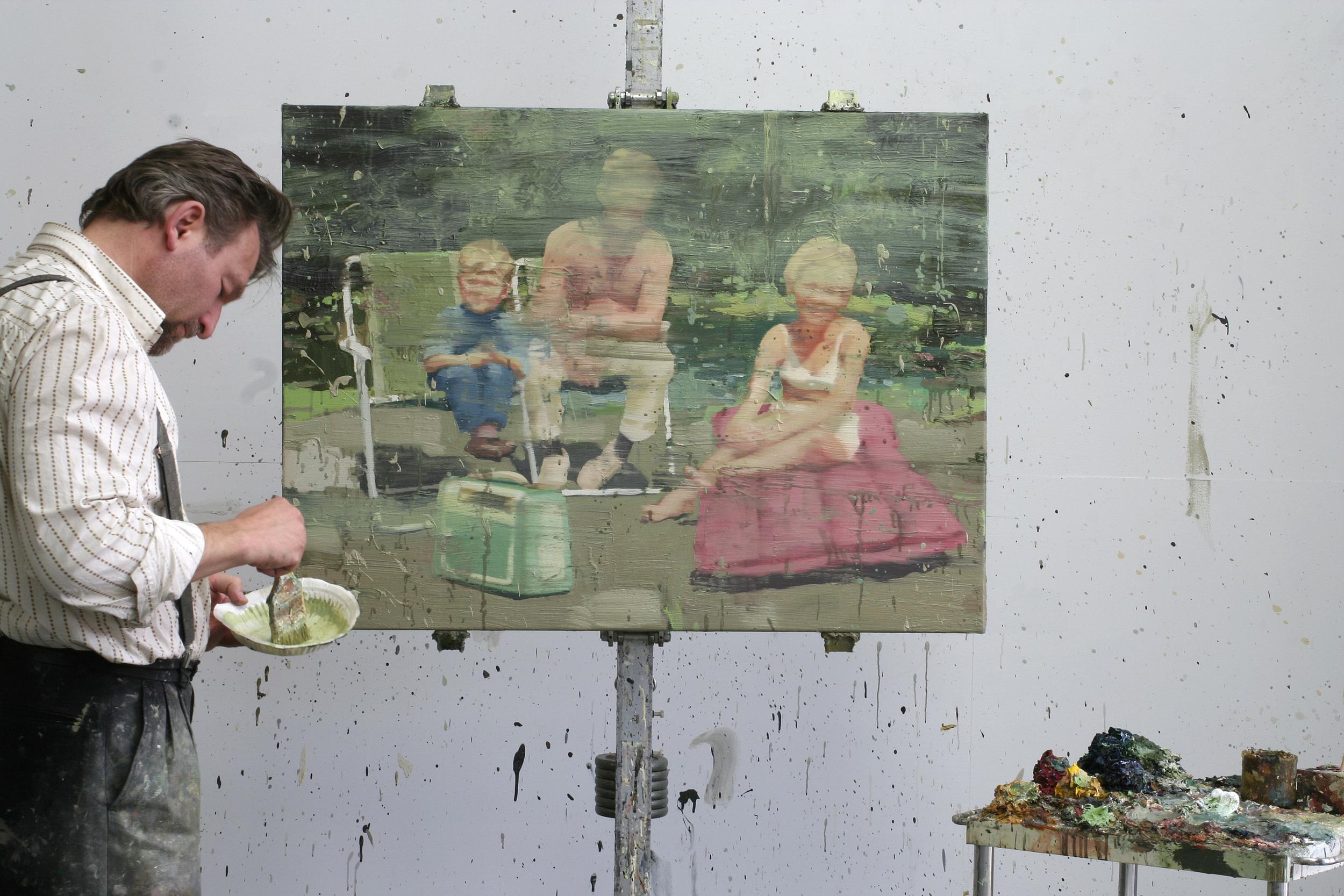 Mamma og pappa og meg | 115x85 cm | Eggoljetempera på lerret | Privat eie