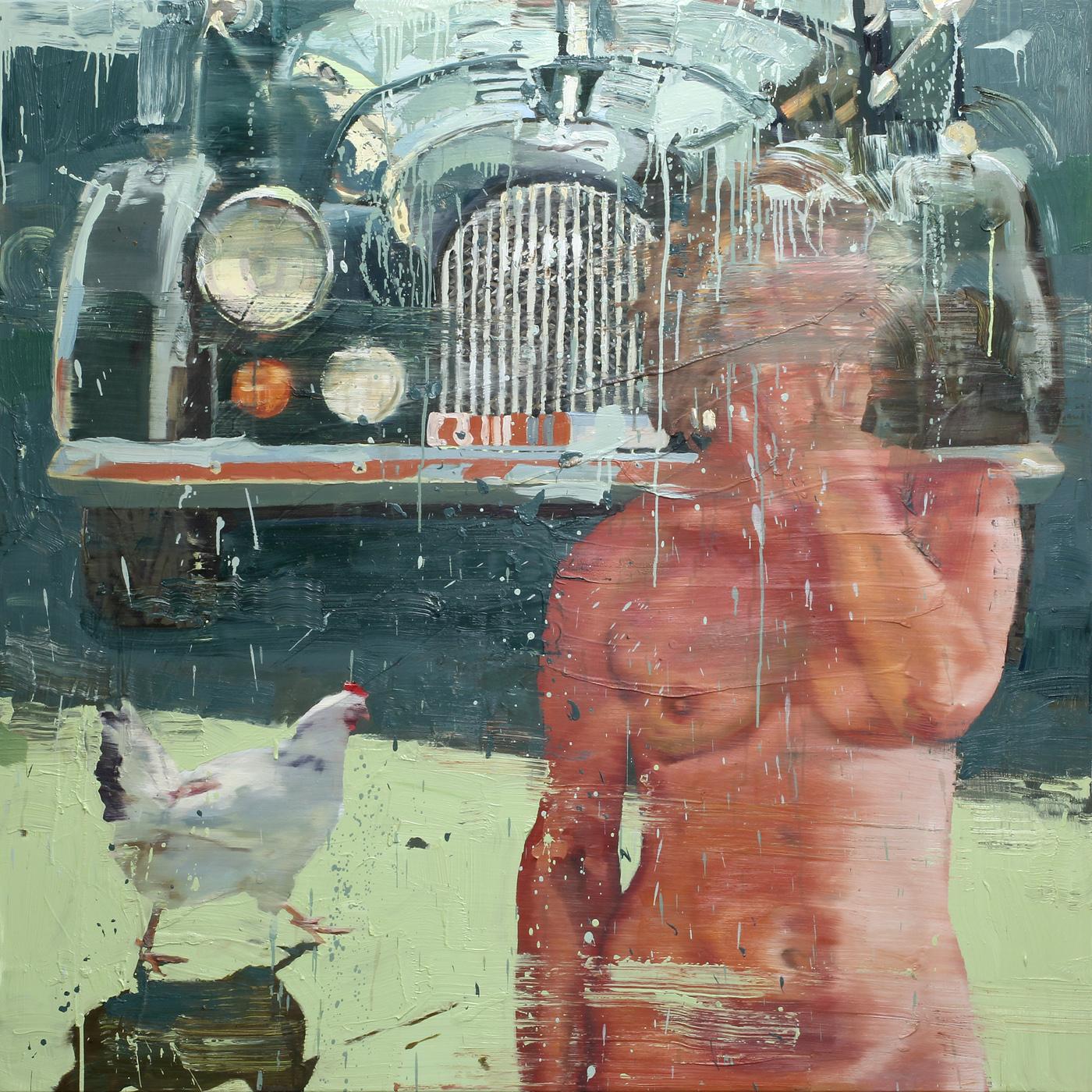 Drømmen om Morgan | 170x170 cm | Eggoljetempera på lerret | Privat eie