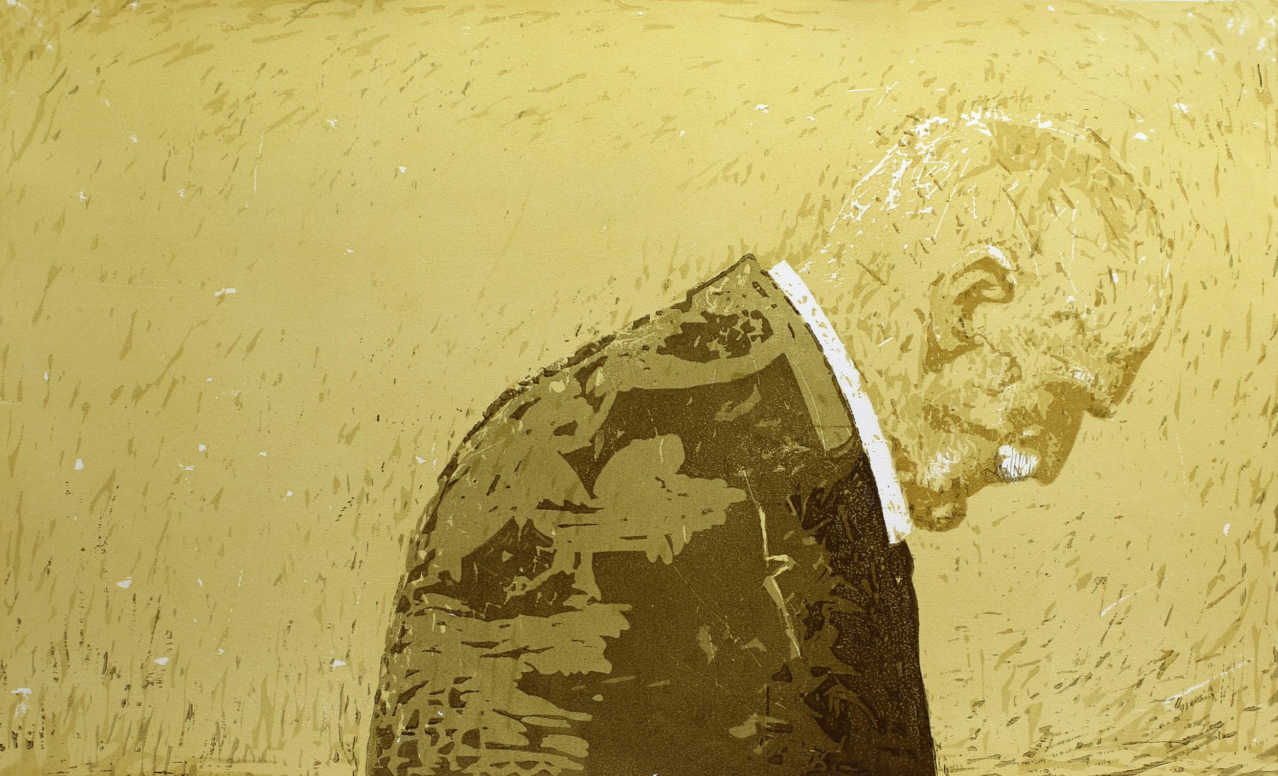 På gjengrodde stier   Tresnitt   55x90 cm   kr. 6 000,-